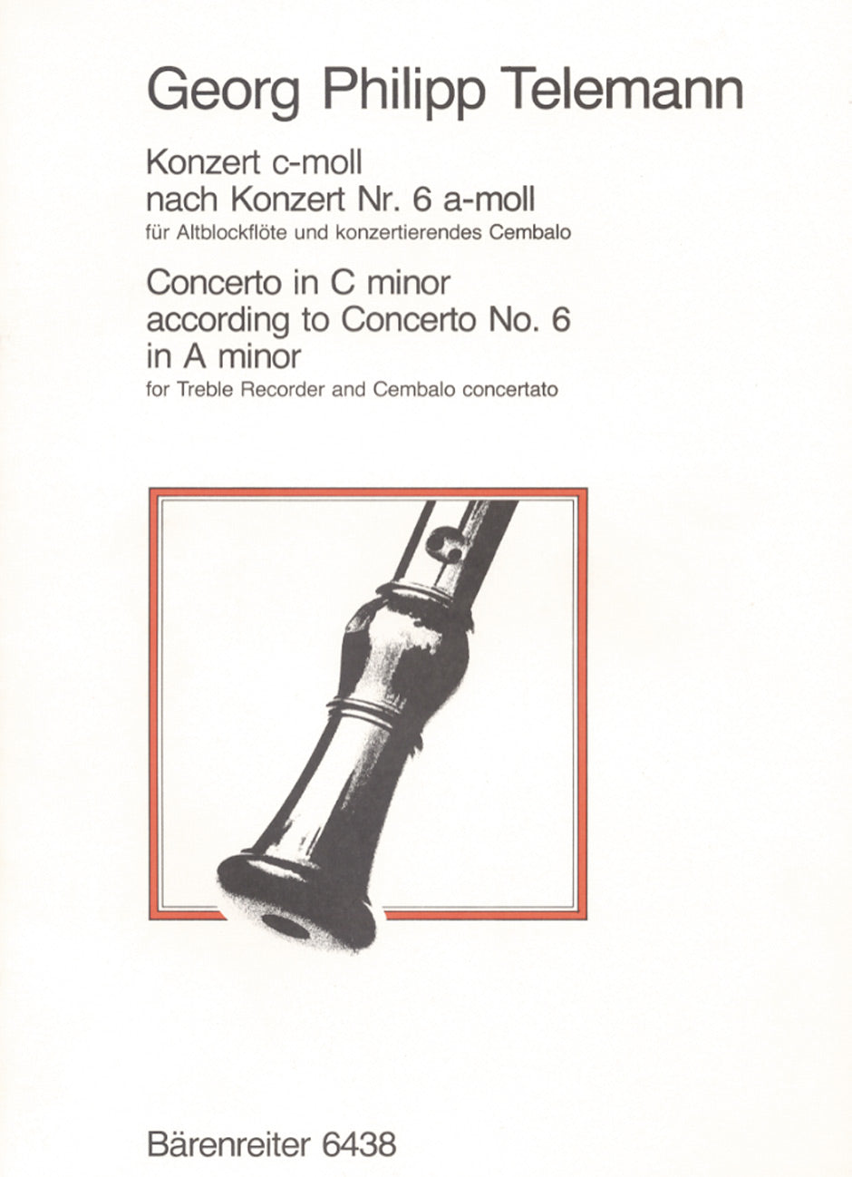 Telemann: Recorder Concerto in C Minor, TWV 42:a2