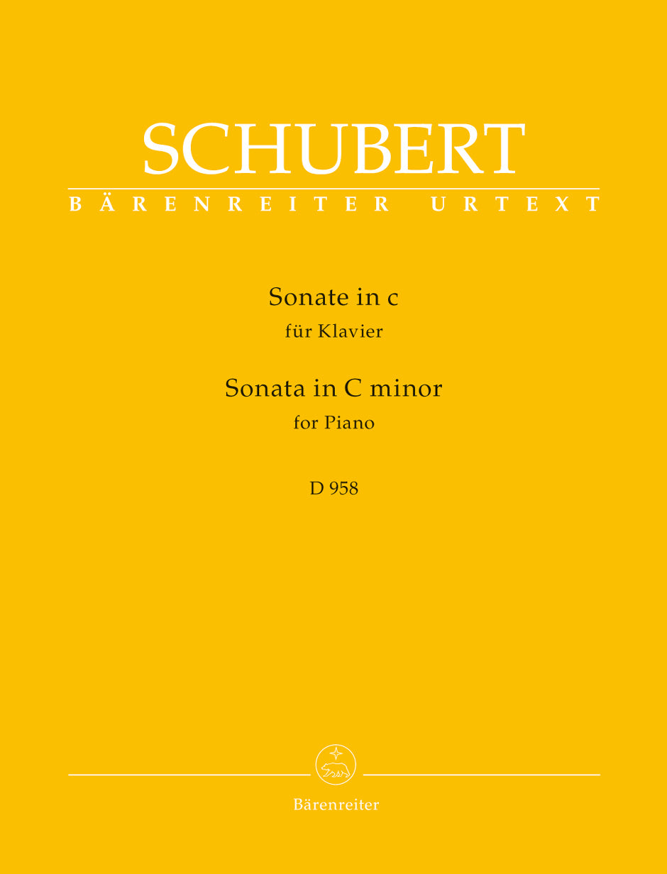 Schubert: Piano Sonata in C Minor, D 958