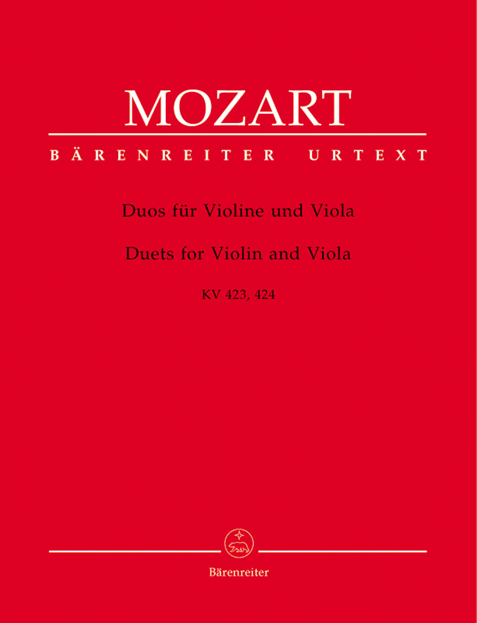 Mozart: Duets for Violin and Viola, K. 423 and 424