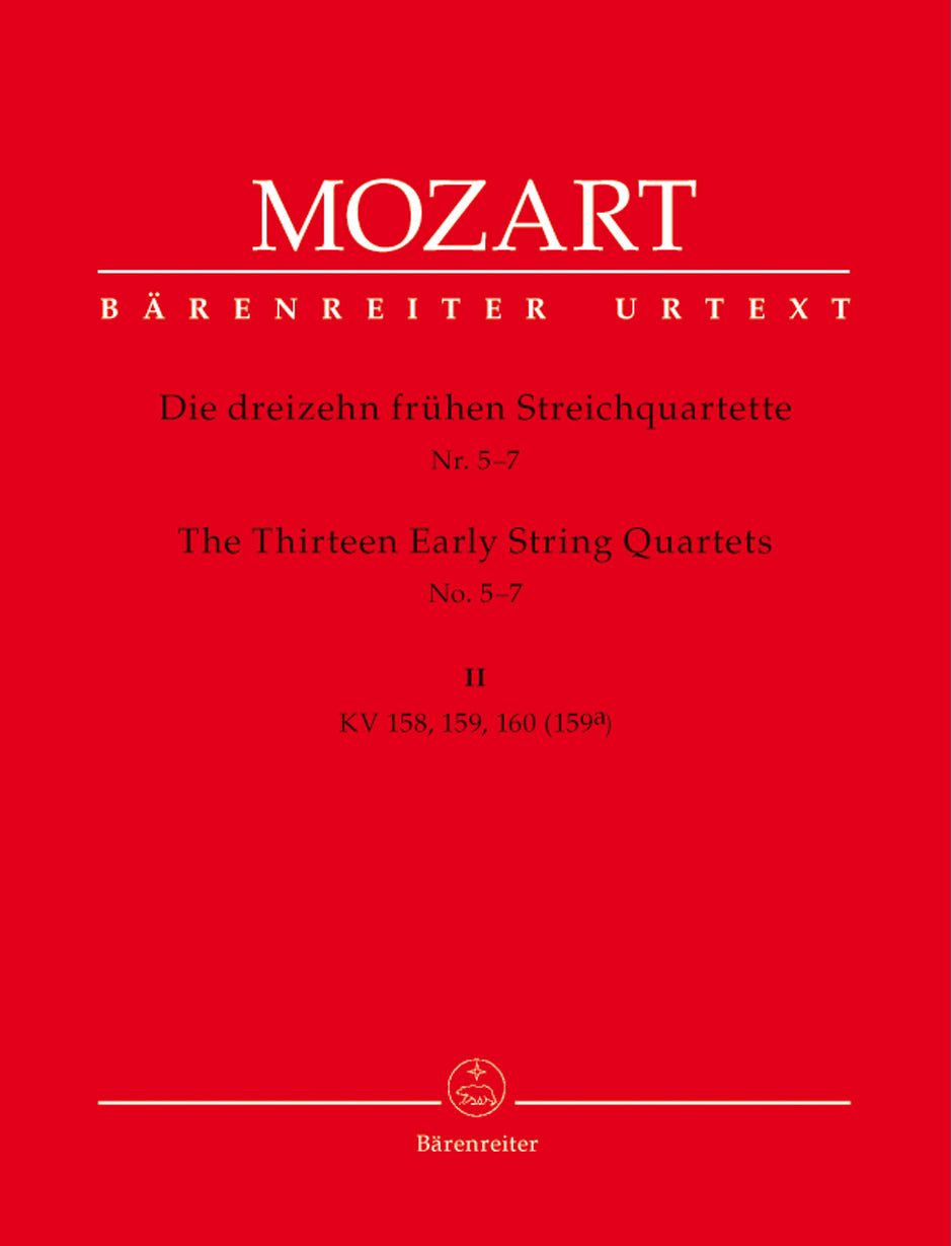 Mozart: The 13 Early String Quartets - Volume 2 (K. 158-60)