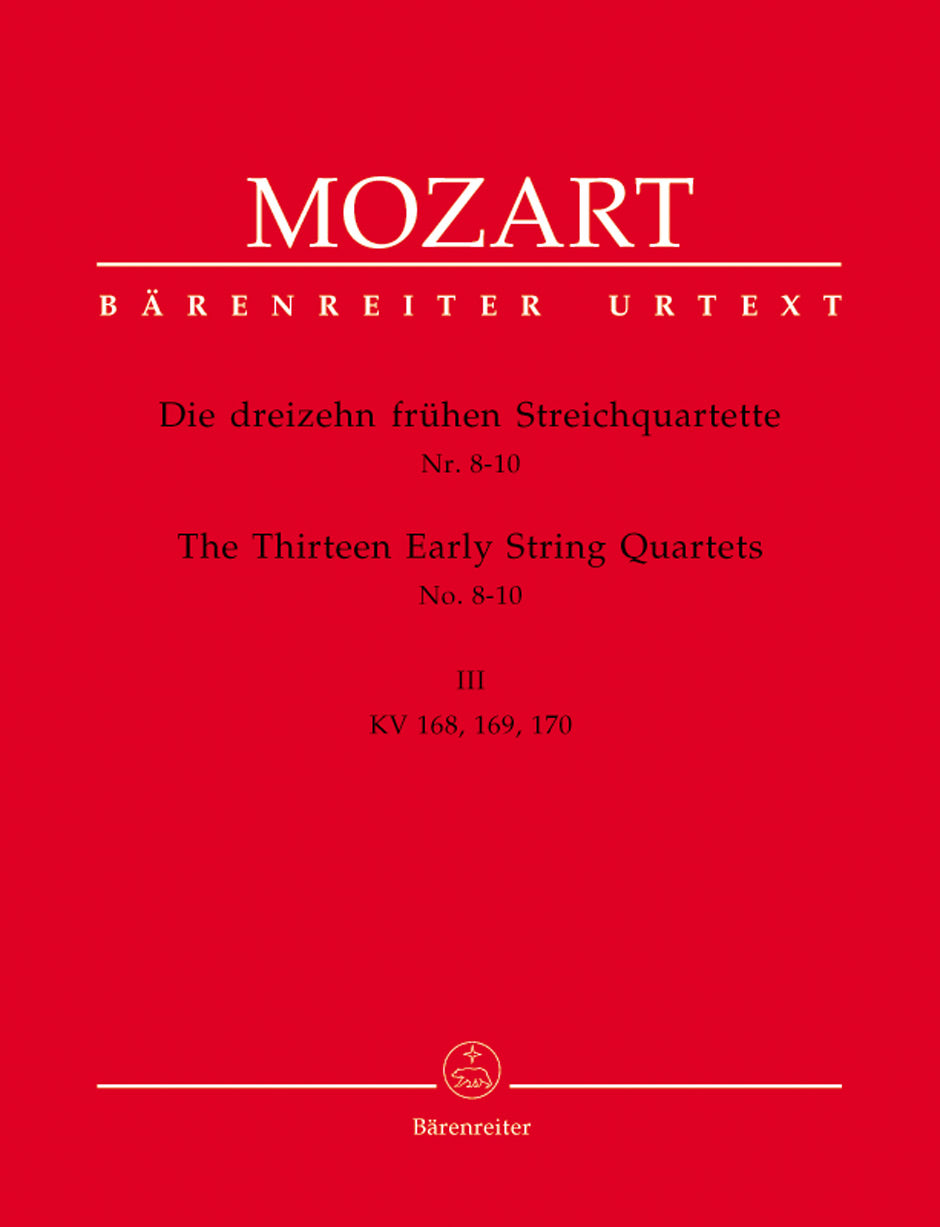 Mozart: The 13 Early String Quartets - Volume 3 (K. 168-170)
