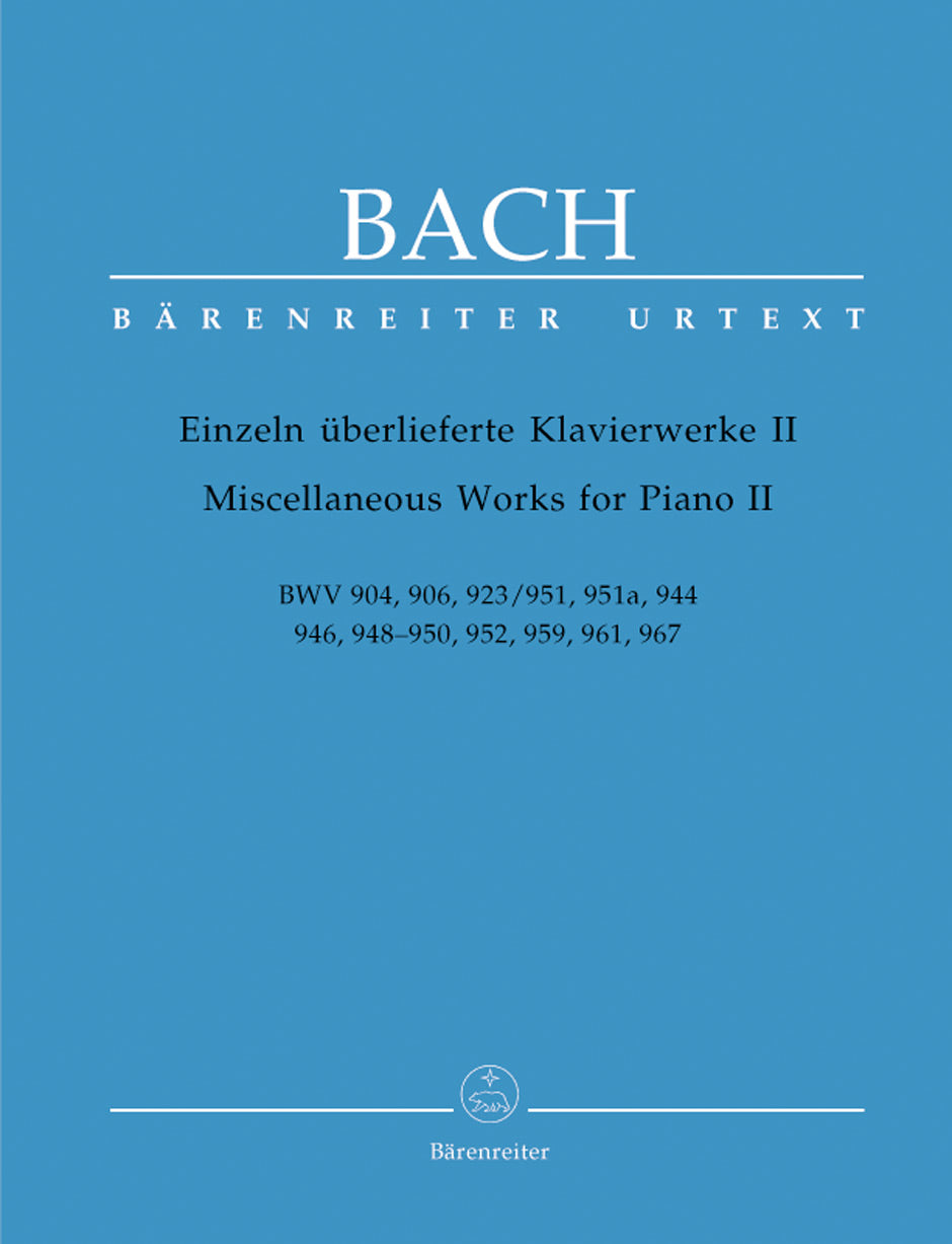Bach: Miscellaneous Works for Piano - Volume 2