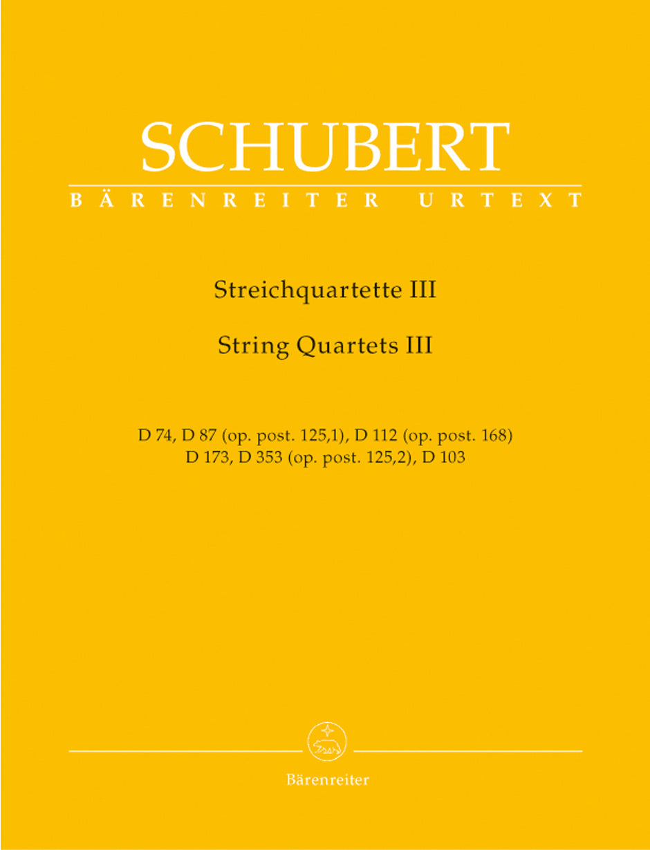 Schubert: String Quartets - Volume 3