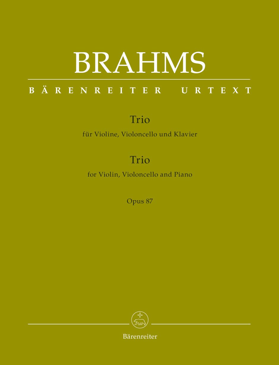 Brahms: Piano Trio in C Major, Op. 87