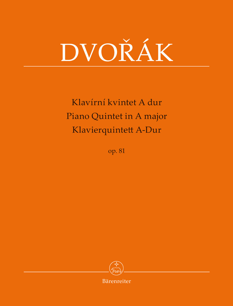Dvořák: Piano Quintet in A Major, Op. 81