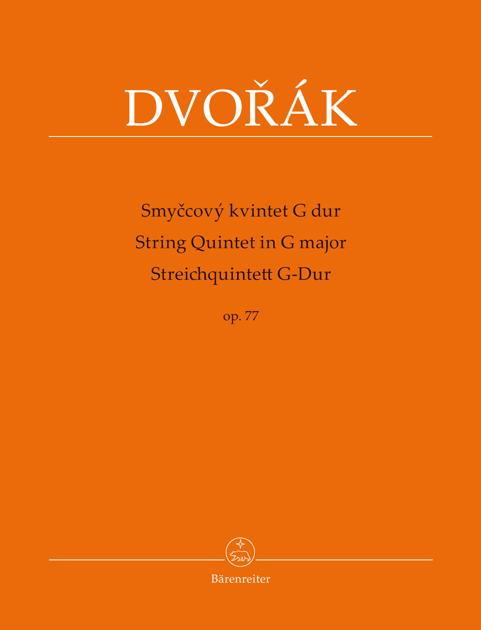 Dvořák: String Quintet in G Major, Op. 77