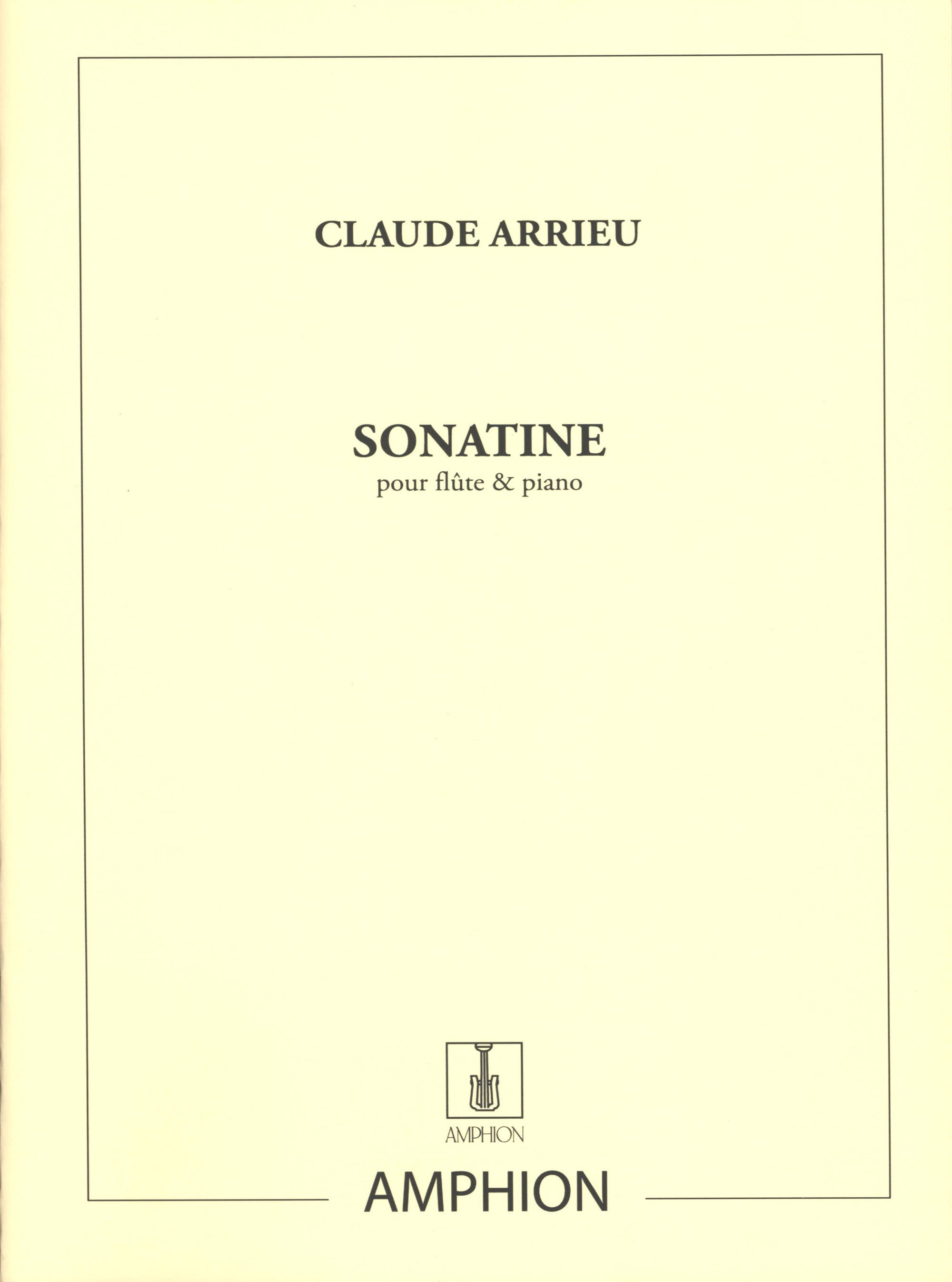 Arrieu: Sonatine for Flute and Piano