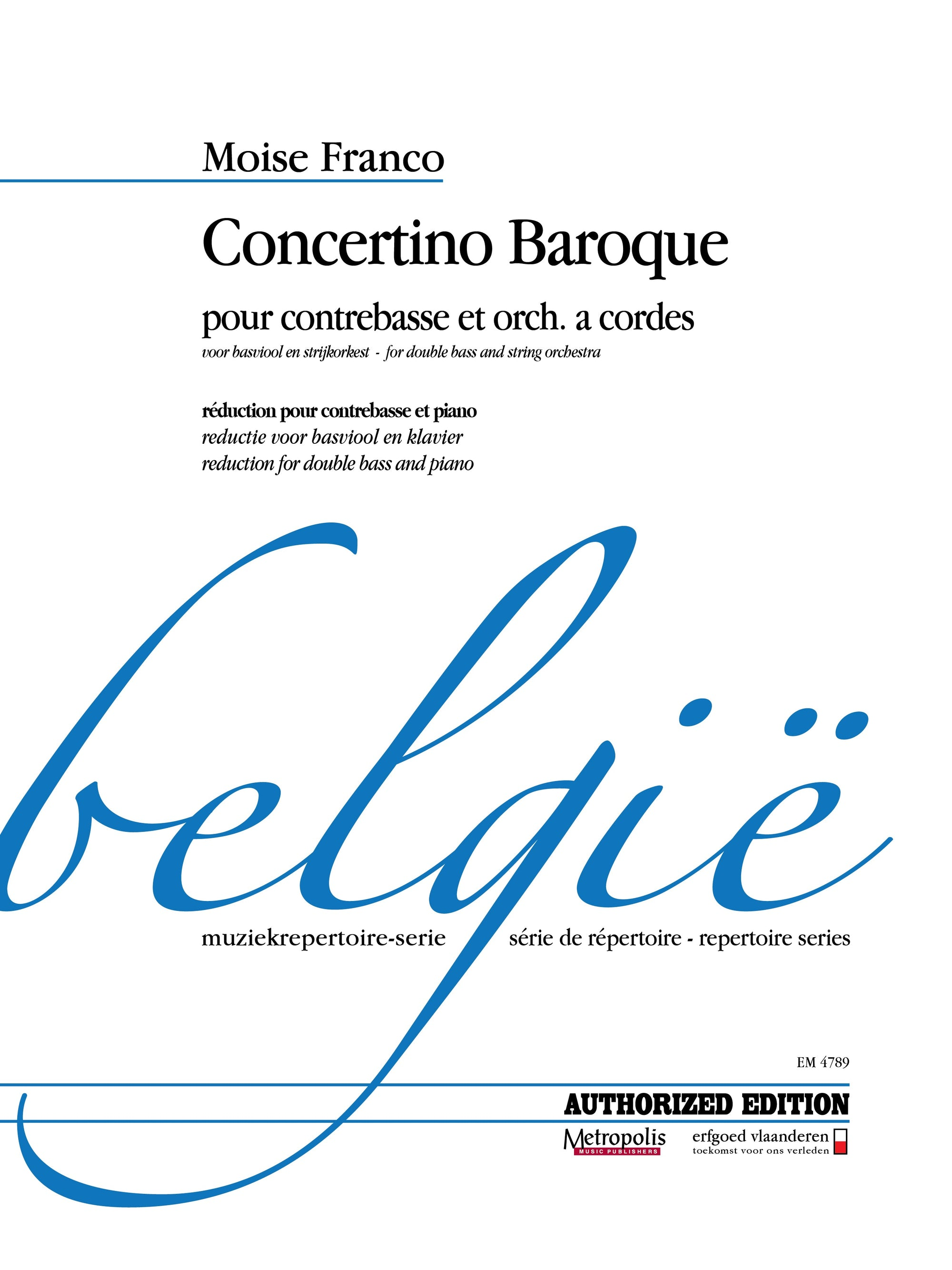 Franco: Concertino Baroque for Double Bass and String Orchestra