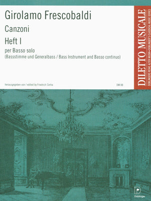 Frescobaldi: Canzoni for Solo Bass Instrument & Continuo - Volume 1