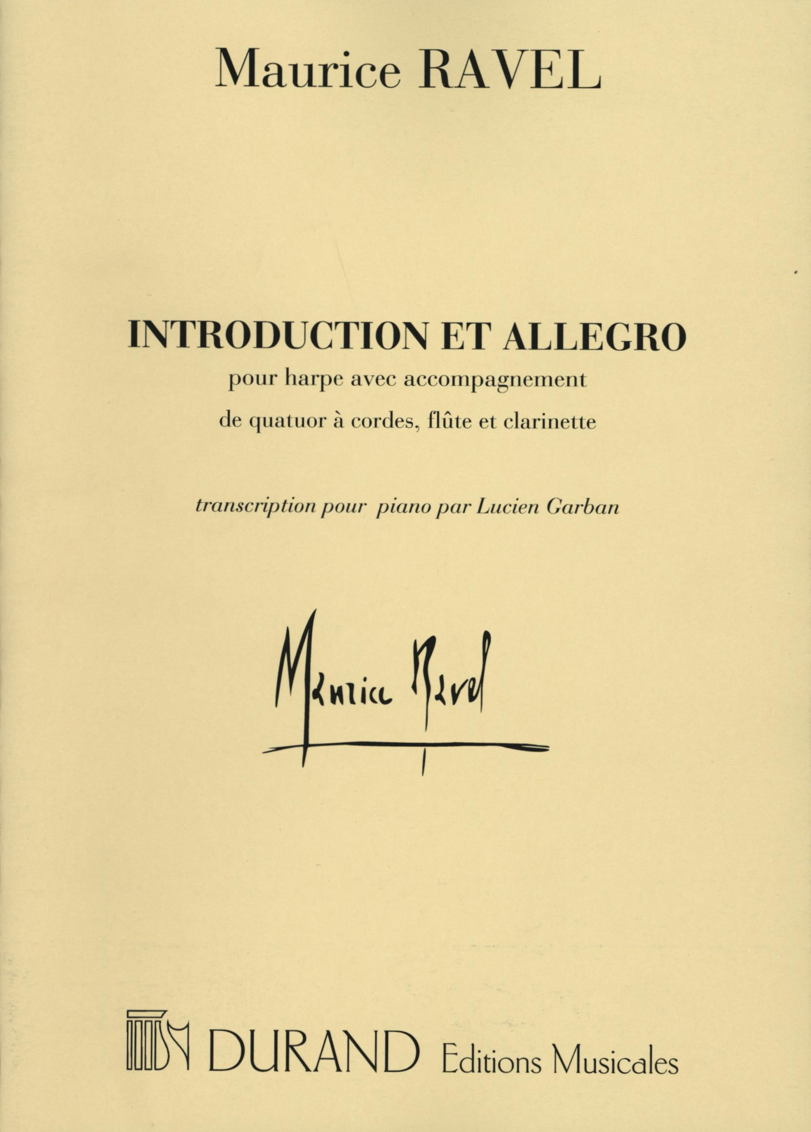 Ravel: Introduction et Allegro (arr. for solo piano)