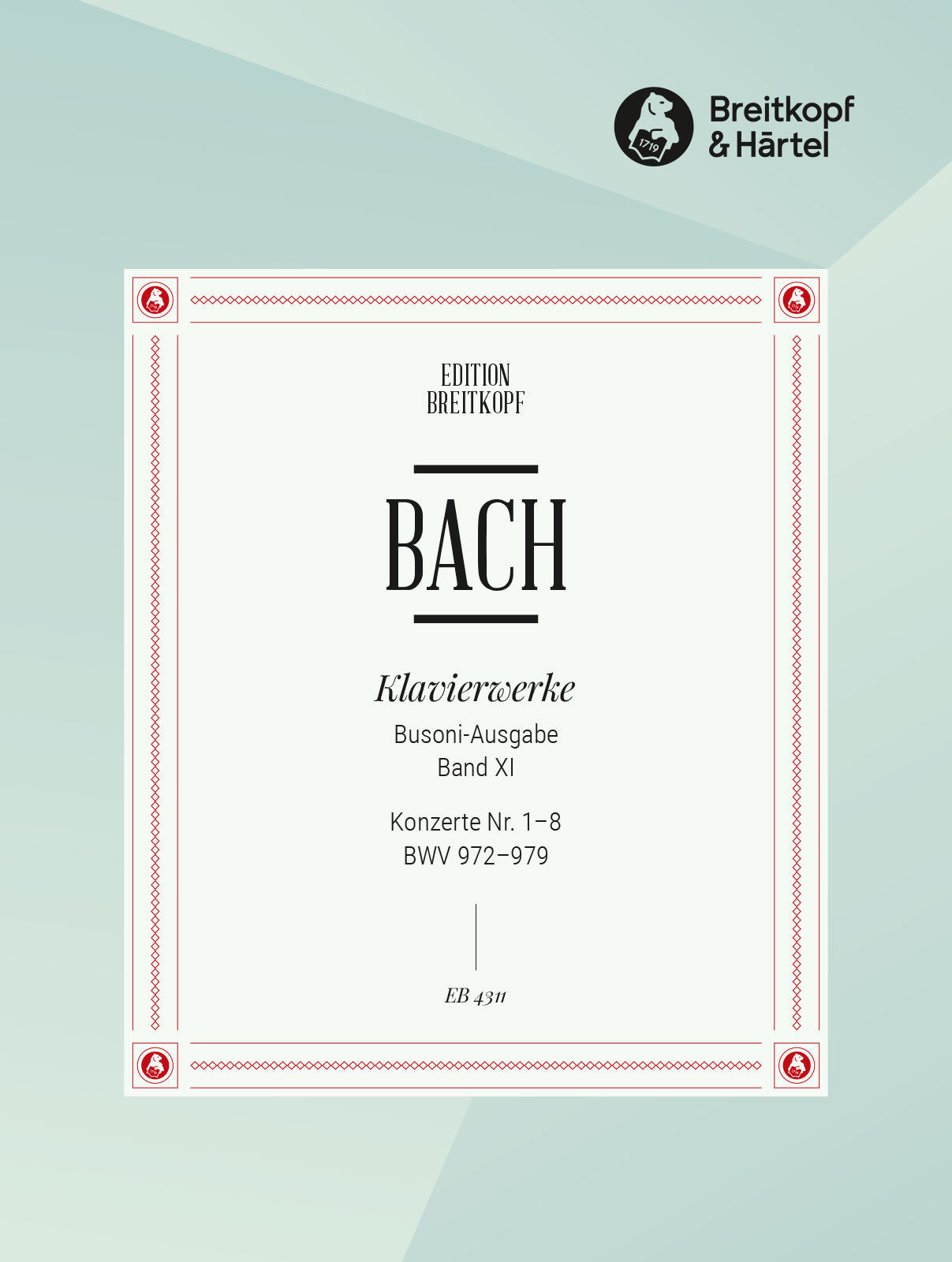 Bach: Keyboard Concertos after Different Composers, BWV 972-979