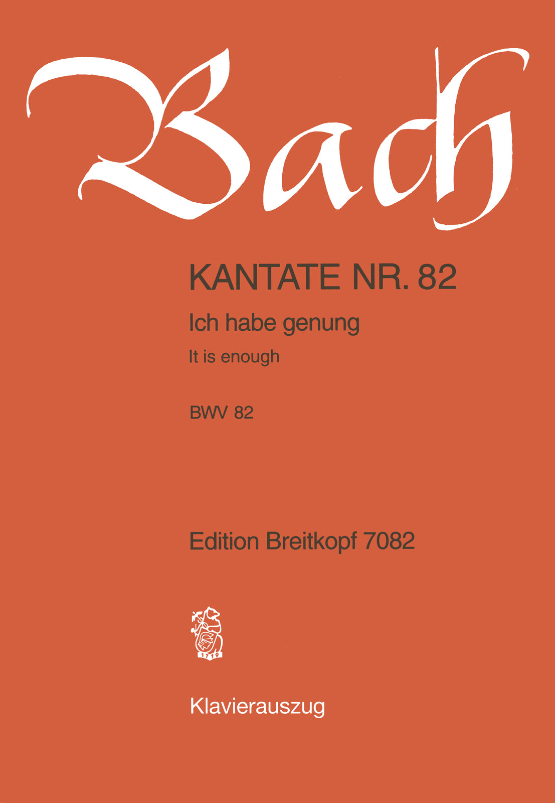 Bach: Ich habe genug, BWV 82 (version for Bass)