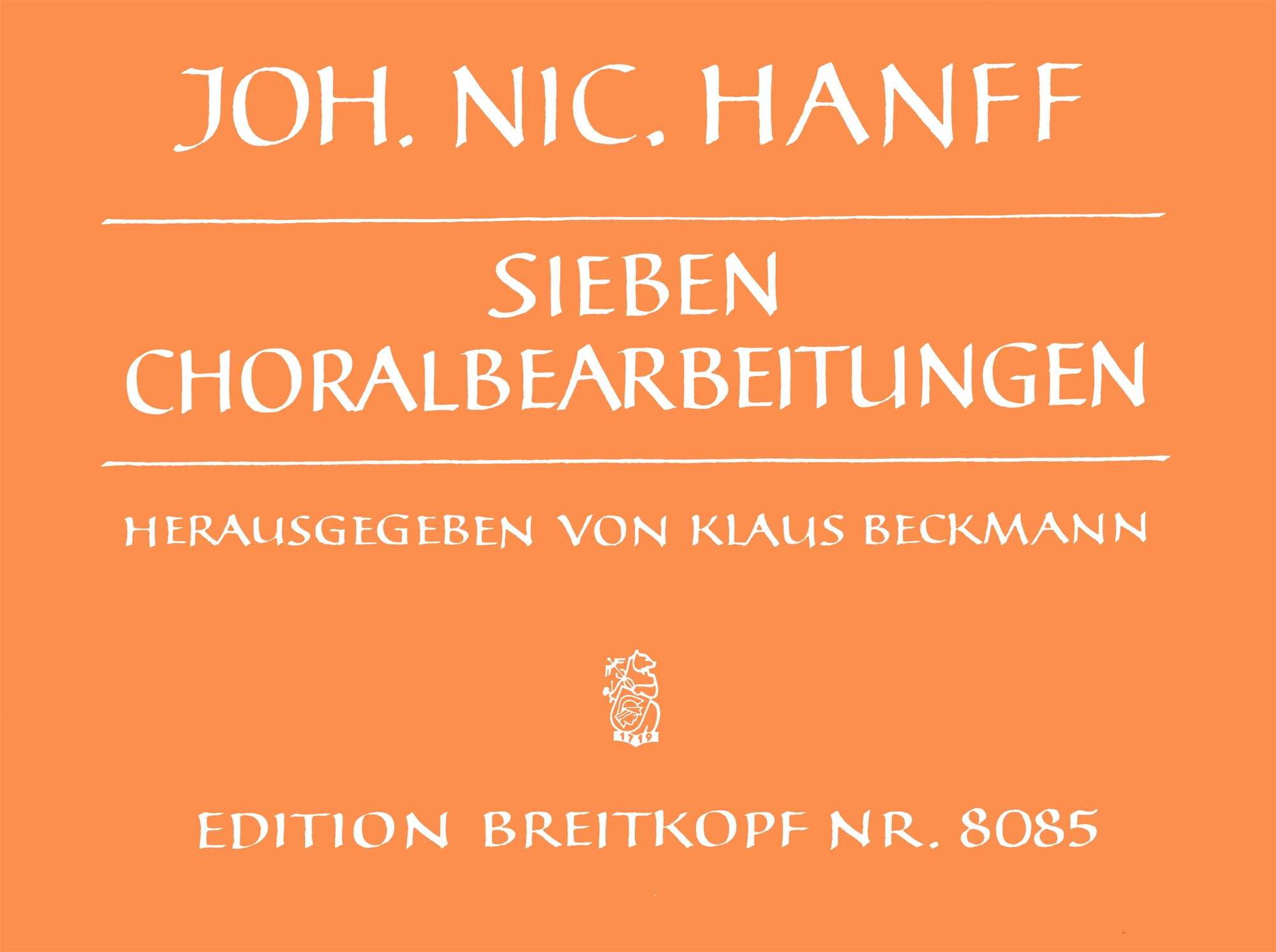Hanff: 7 Chorale Settings