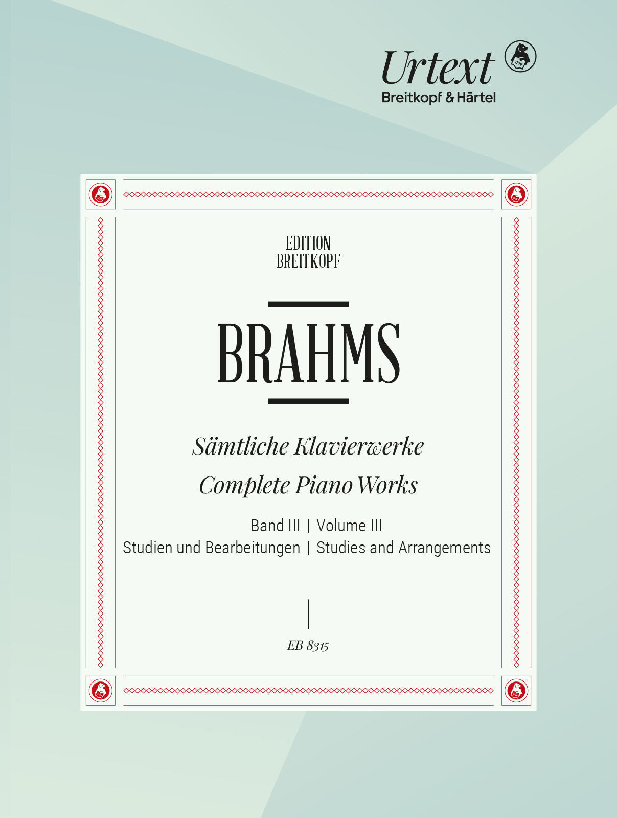 Brahms: Complete Piano Works - Volume 3 (Studies and Arrangements)