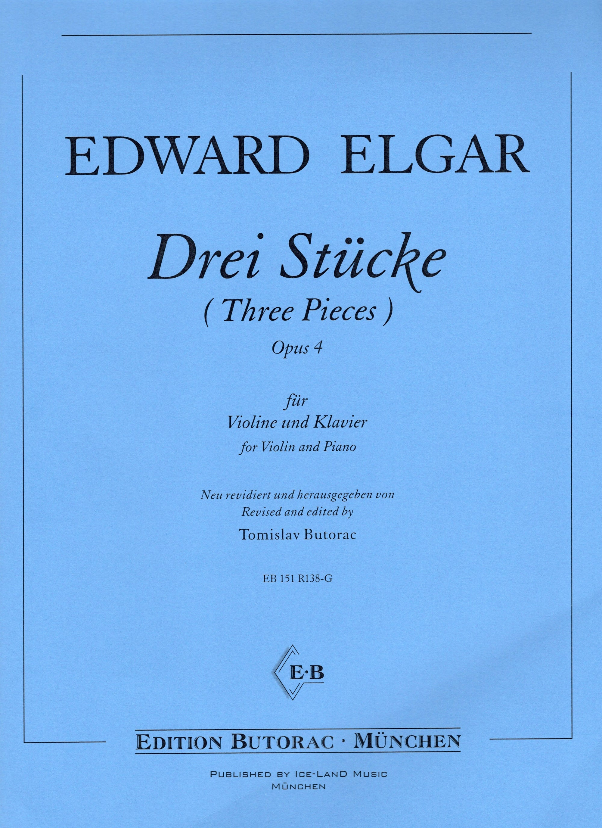 Elgar: Three Pieces, Op. 4