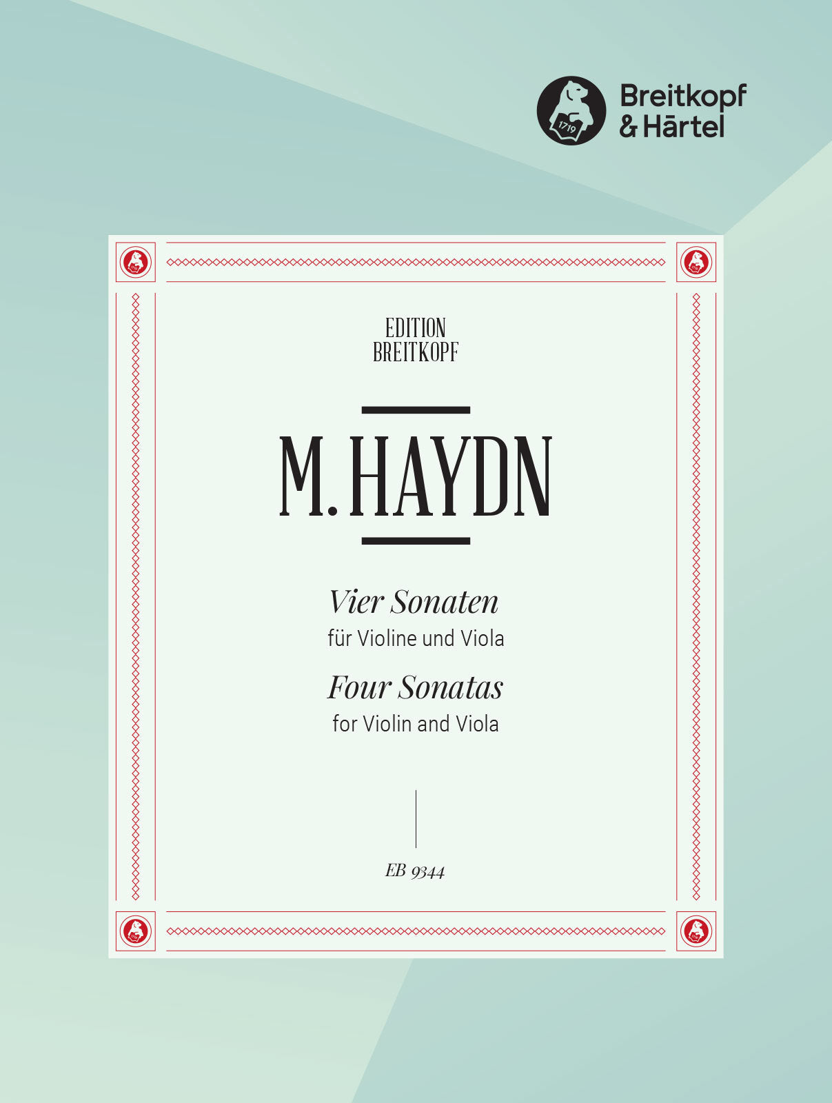 M. Haydn: 4 Sonatas for Violin and Viola