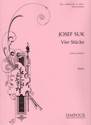 Suk: 4 Pieces, Op. 17 - Volume 1