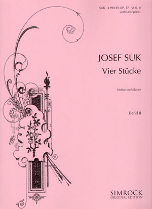 Suk: 4 Pieces, Op. 17 - Volume 2