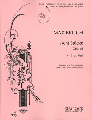Bruch: Eight Pieces, Op. 83, No. 3