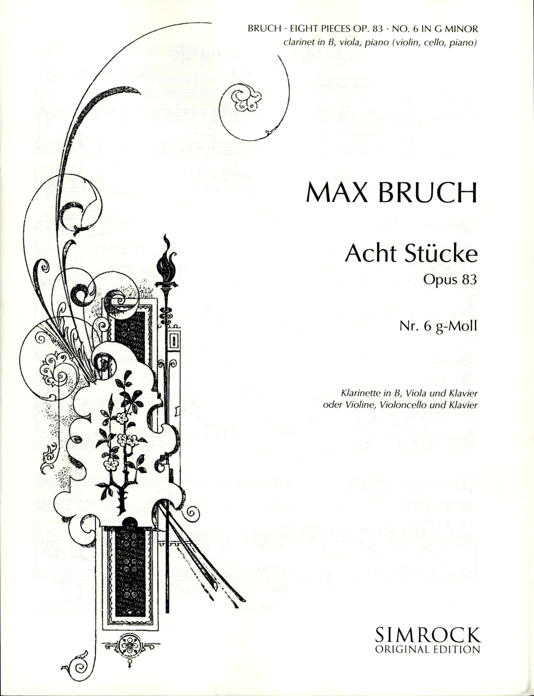 Bruch: Eight Pieces, Op. 83, No. 6