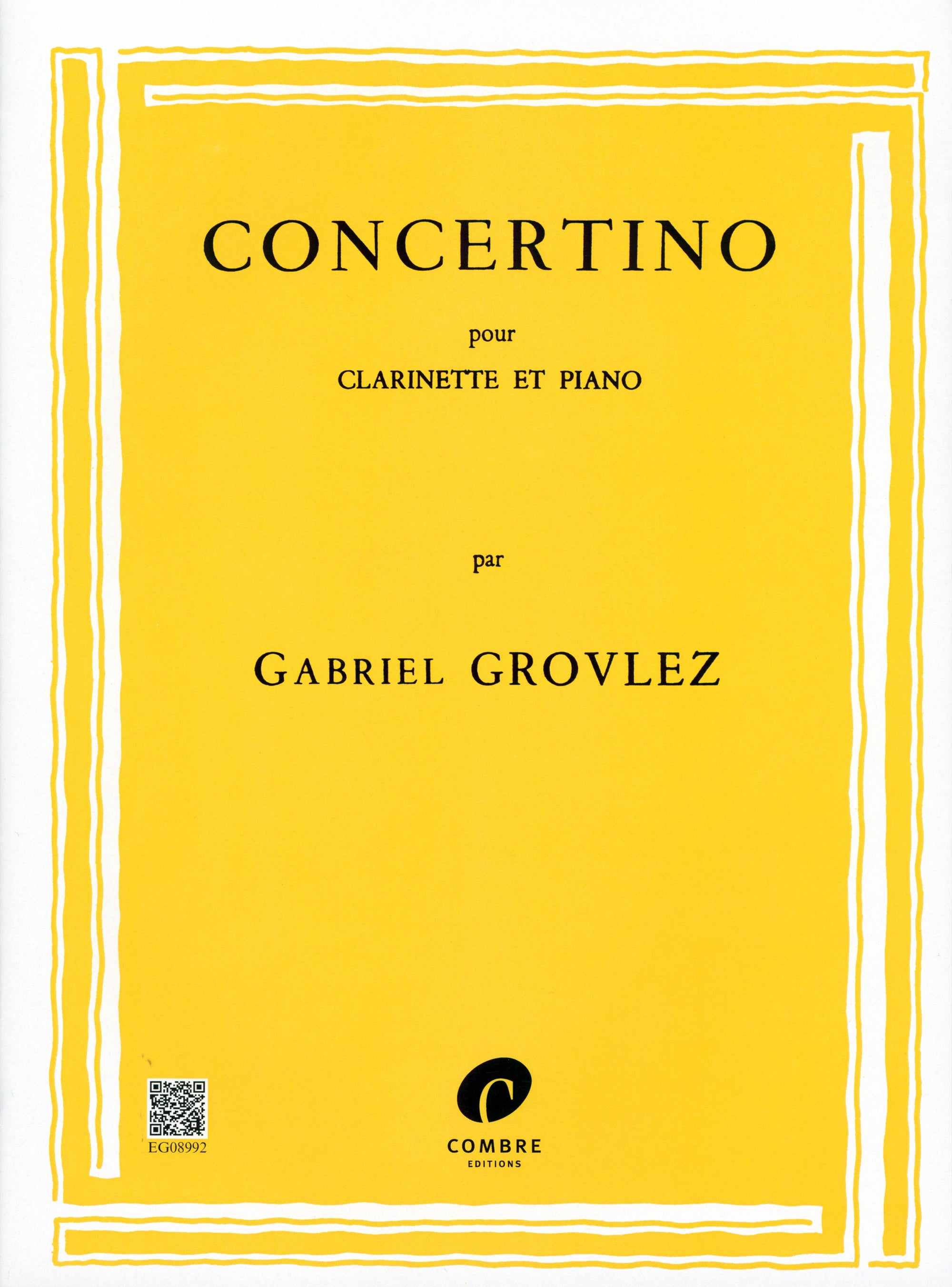 Grovlez: Concertino for Clarinet & Piano