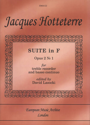 Hotteterre: Suite in F Major, Op. 2, No. 1