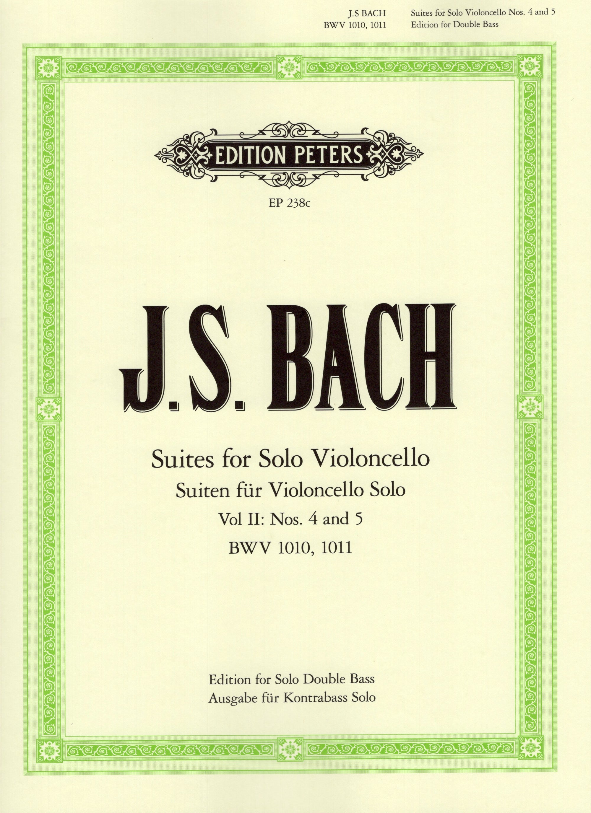 Bach: Cello Suites - Volume 2 (arr. for bass)