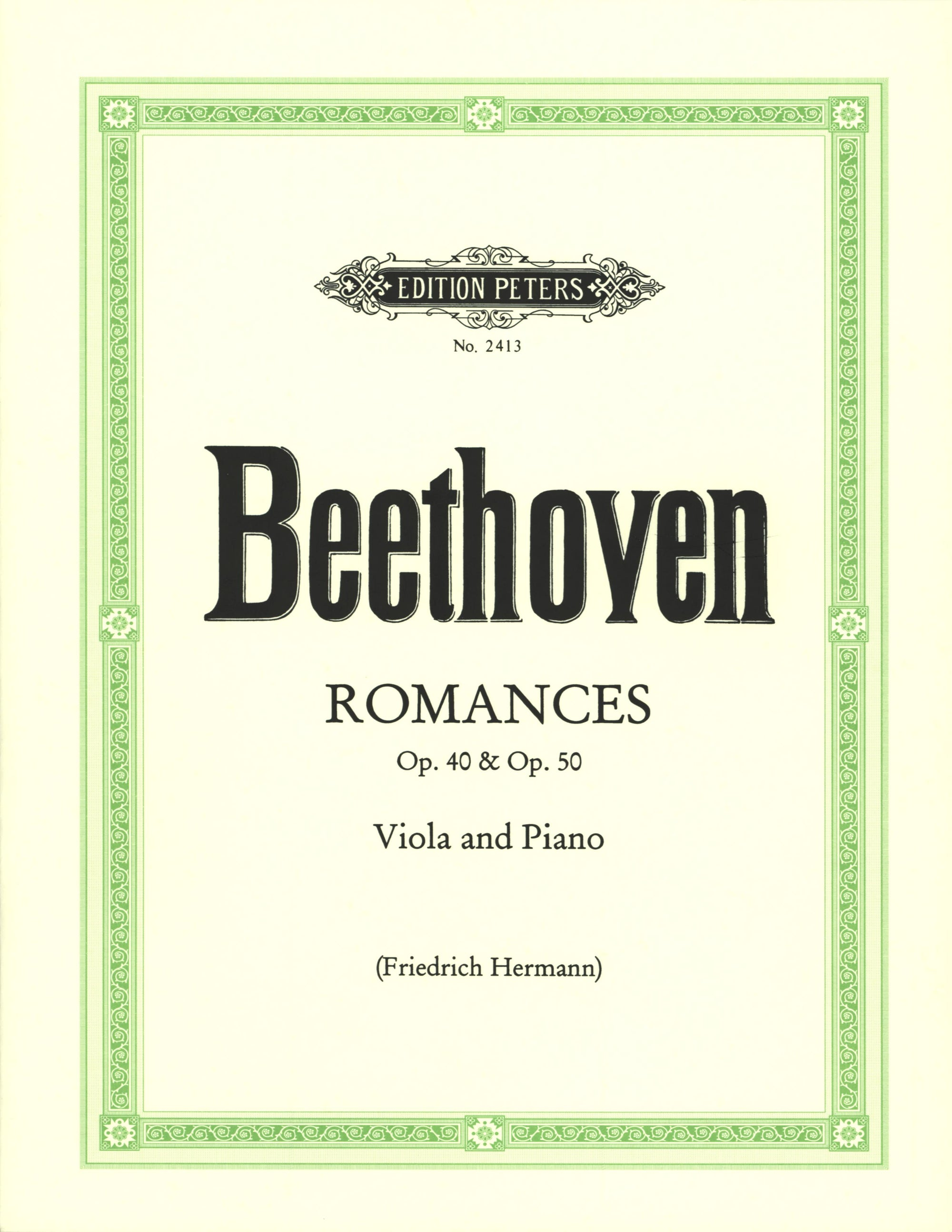Beethoven: Romances in G Major, Op. 40 & F Major, Op. 50 (arr. for viola)