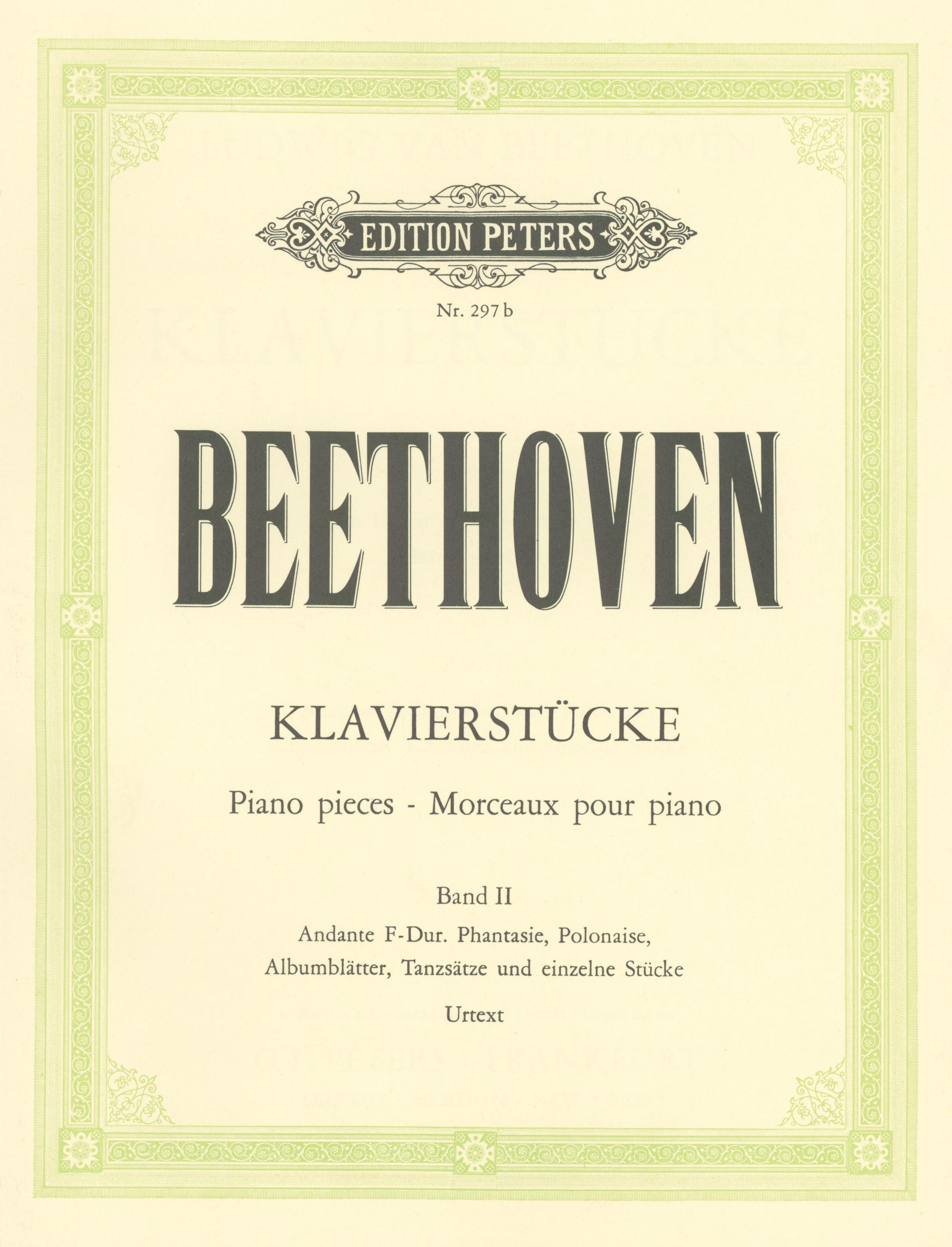 Beethoven: Album of Piano Pieces - Volume 2