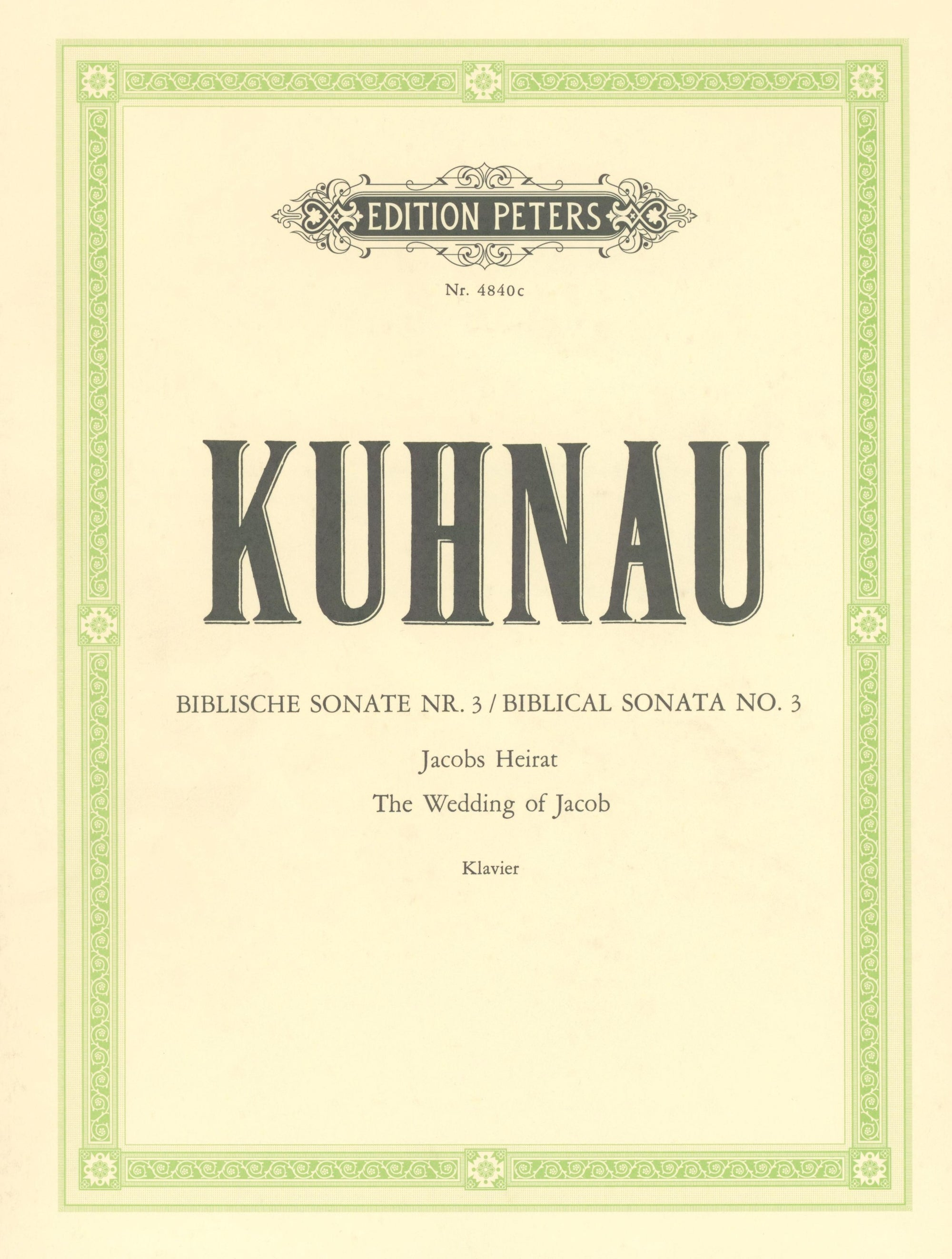 Kuhnau: Jacob's Wedding