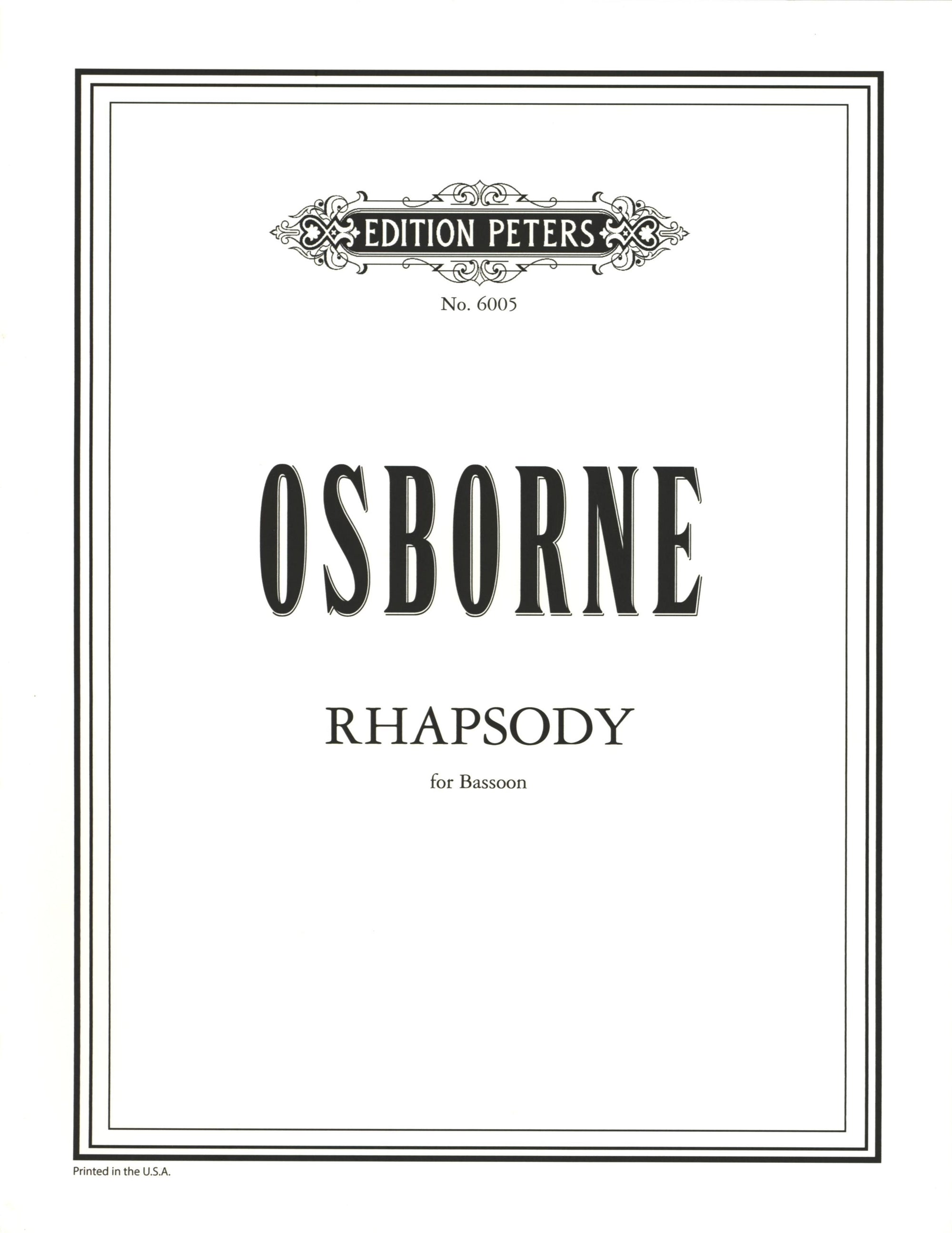 Osborne: Rhapsody for Bassoon