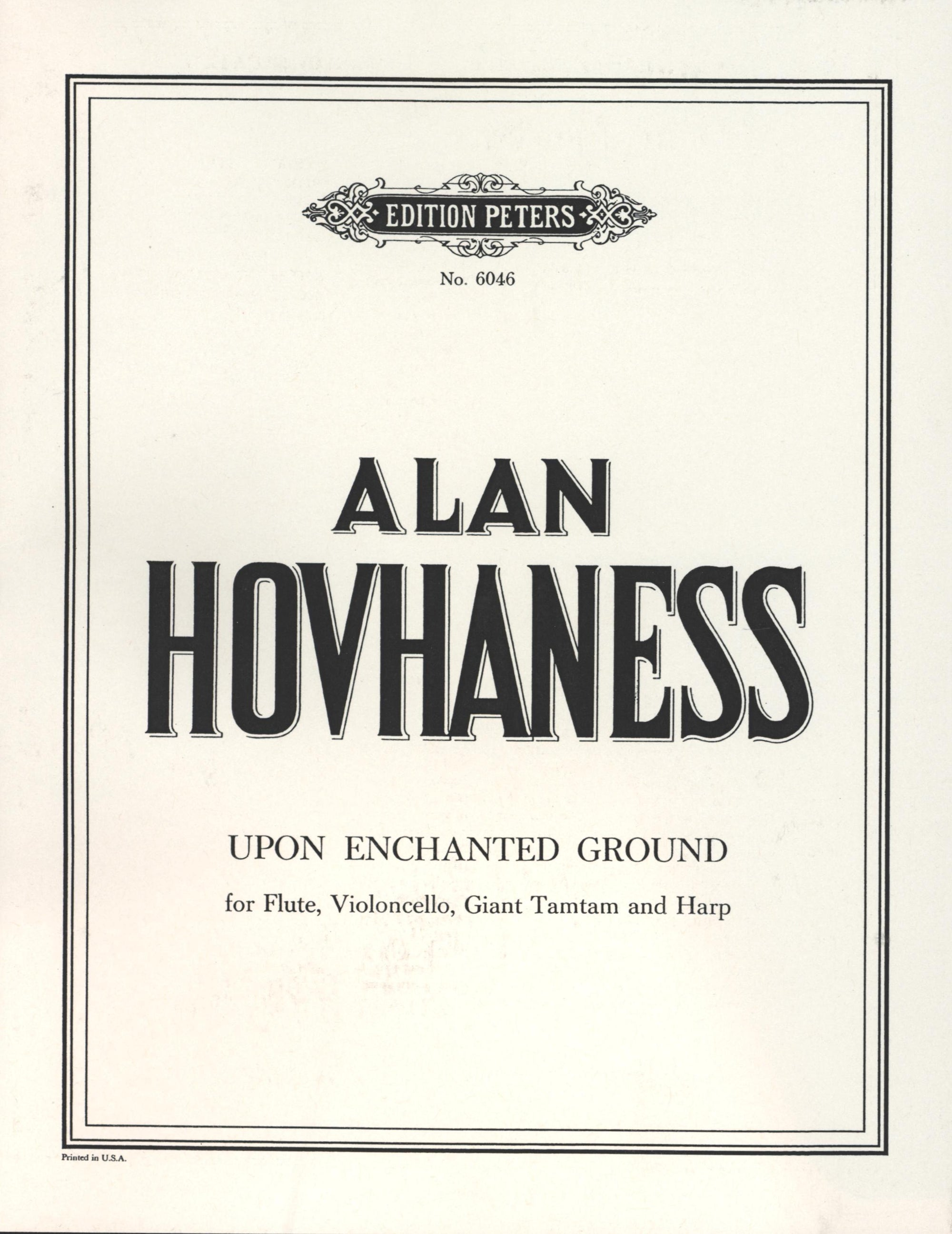 Hovhaness: Upon Enchanted Ground, Op. 90, No. 1