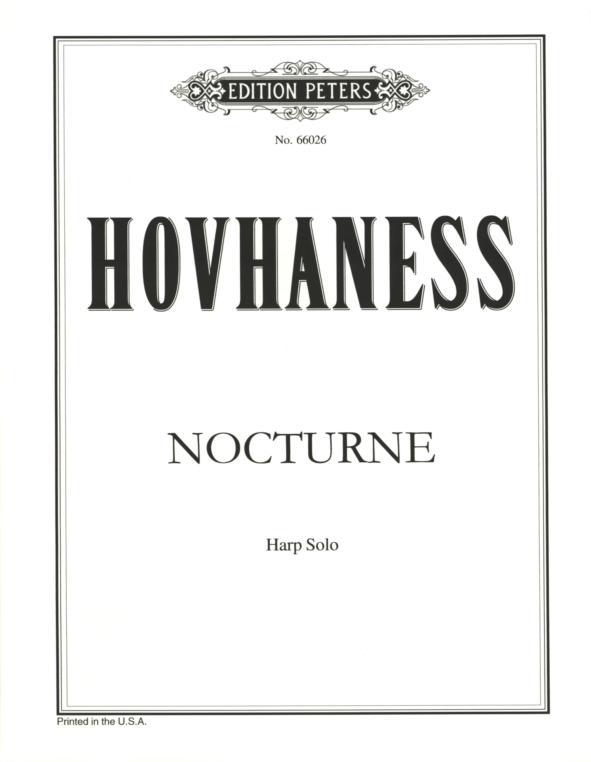 Hovhaness: Nocturne, Op. 20, No. 1