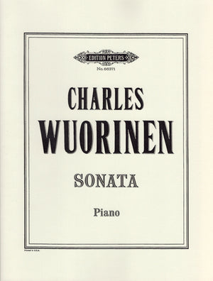 Wuorinen: Piano Sonata No. 1
