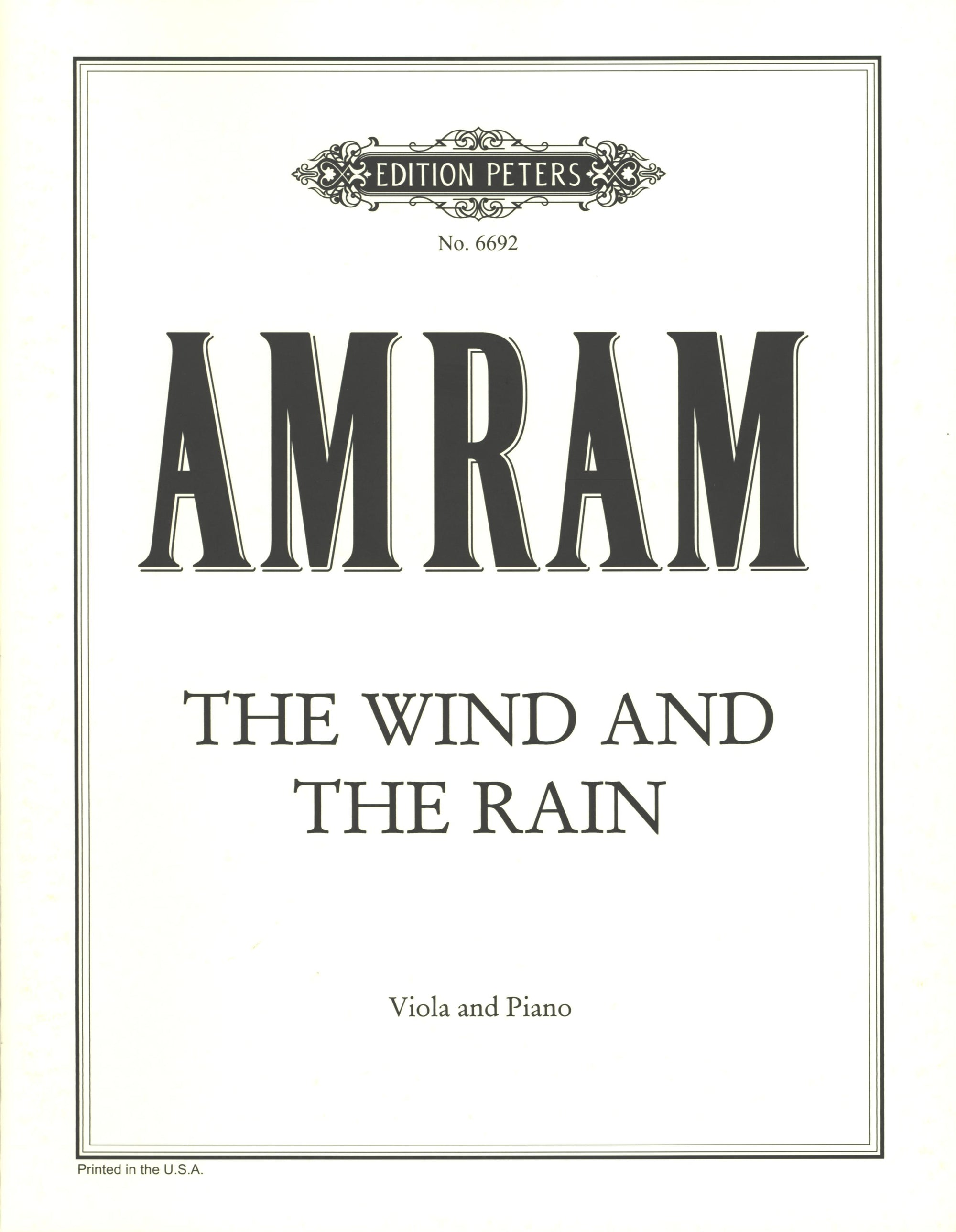 Amram: The Wind and the Rain