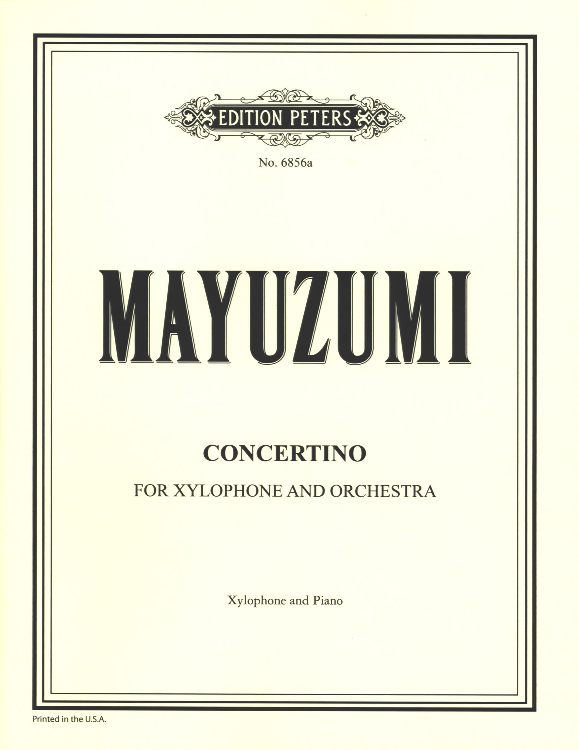 Mayuzumi: Concertino for Xylophone and Orchestra