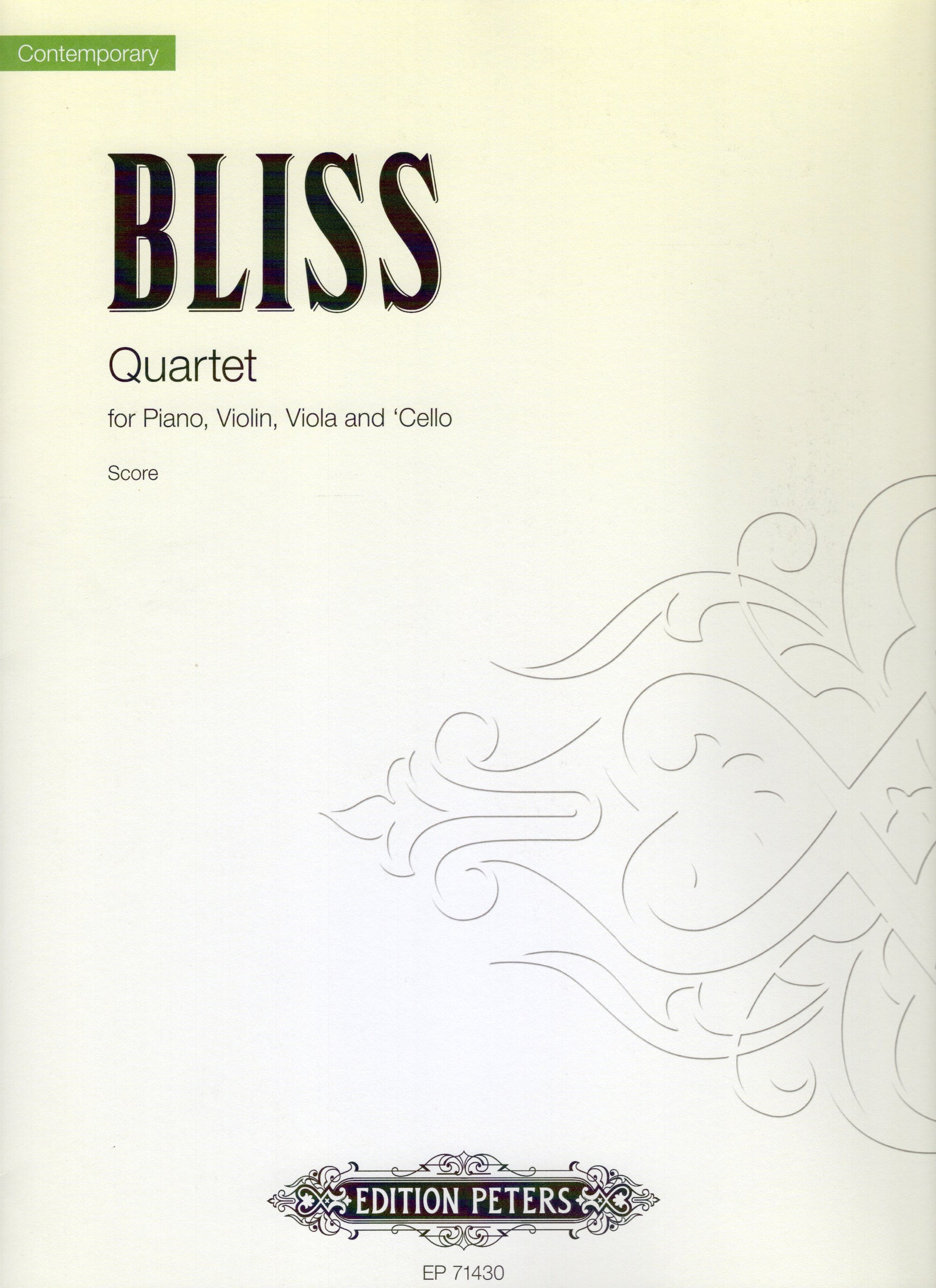 Bliss: Piano Quartet in A Minor, Op. 5