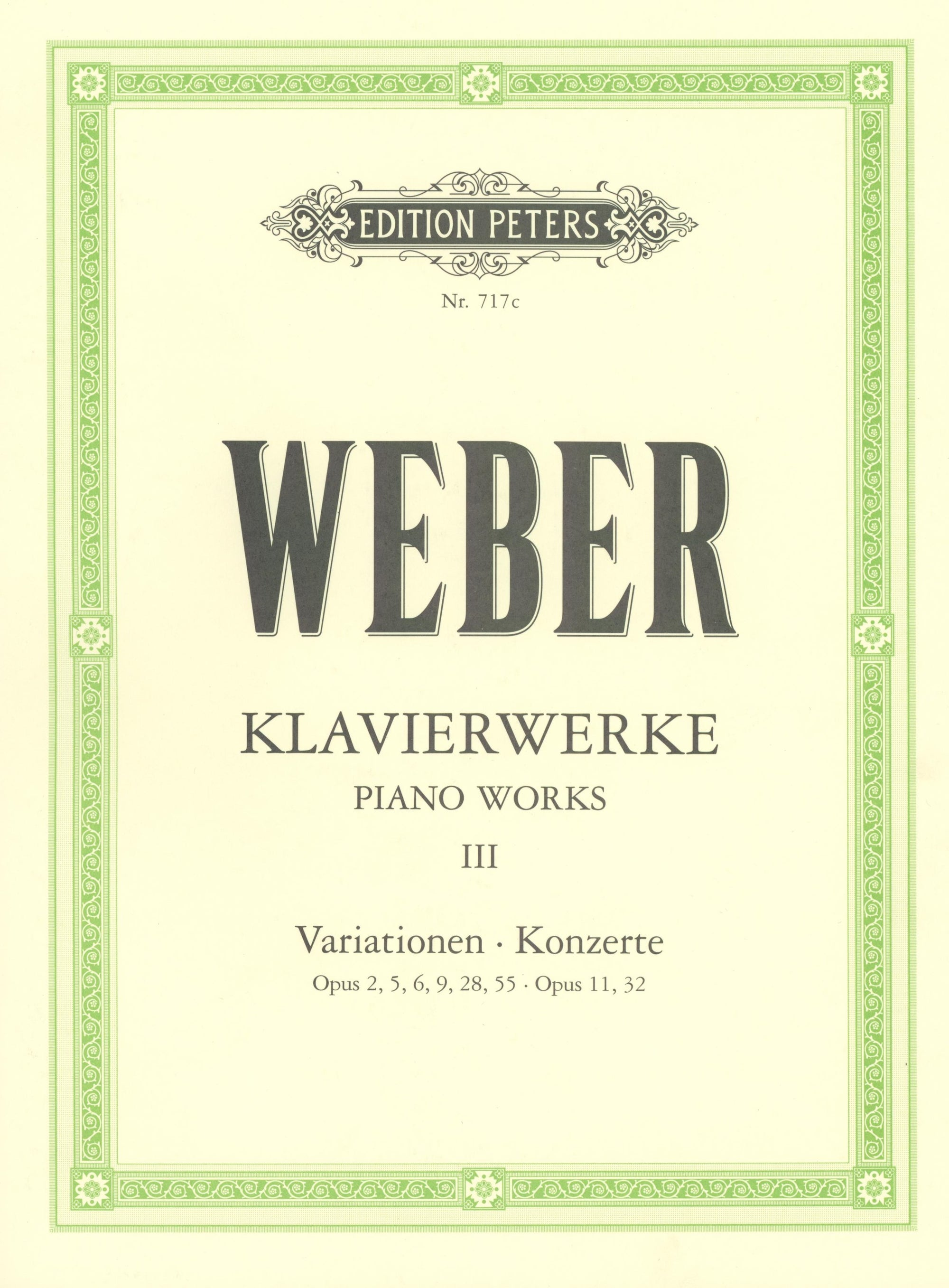 Weber: Complete Piano Works - Volume 3