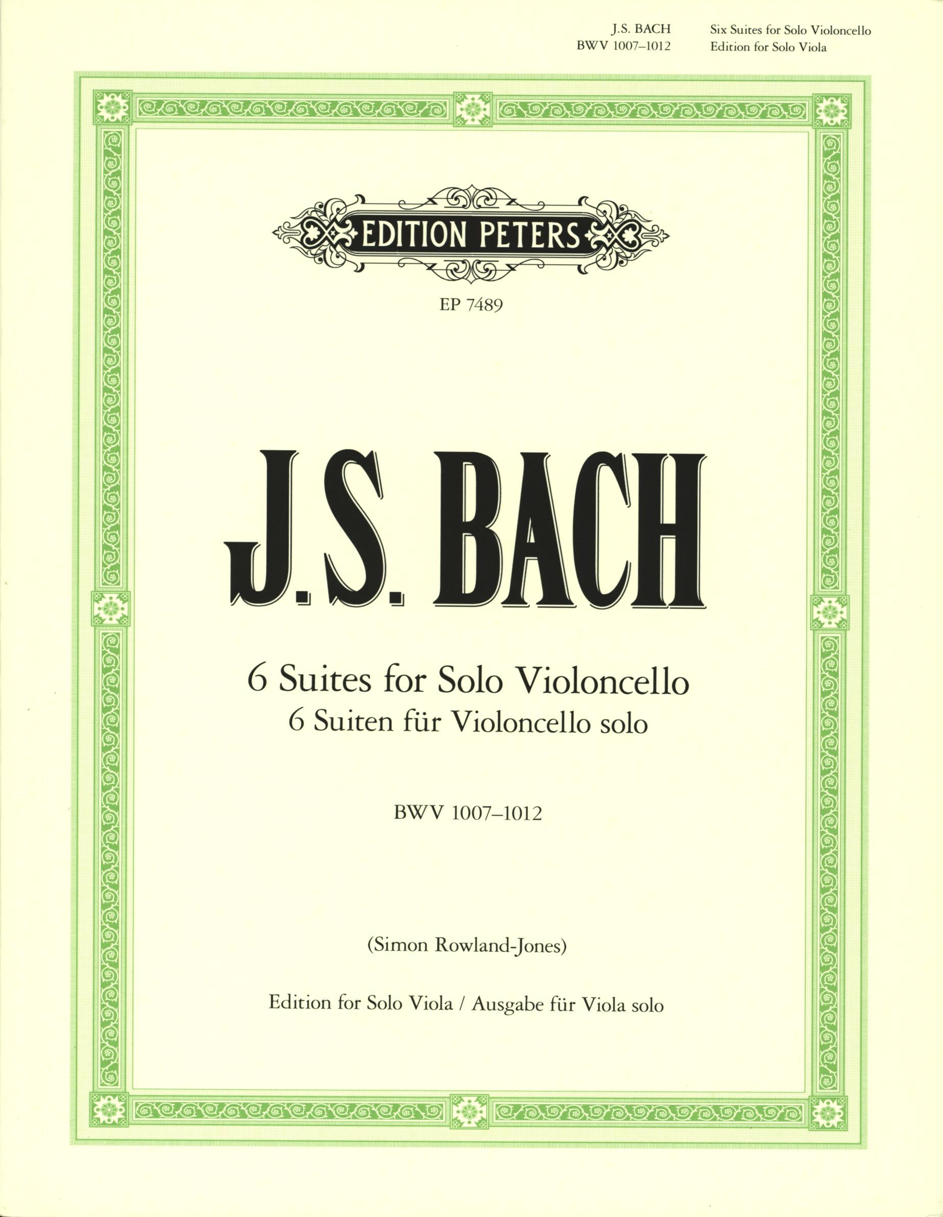 Bach: 6 Cello Suites, BWV 1007-1012 (arr. for viola)