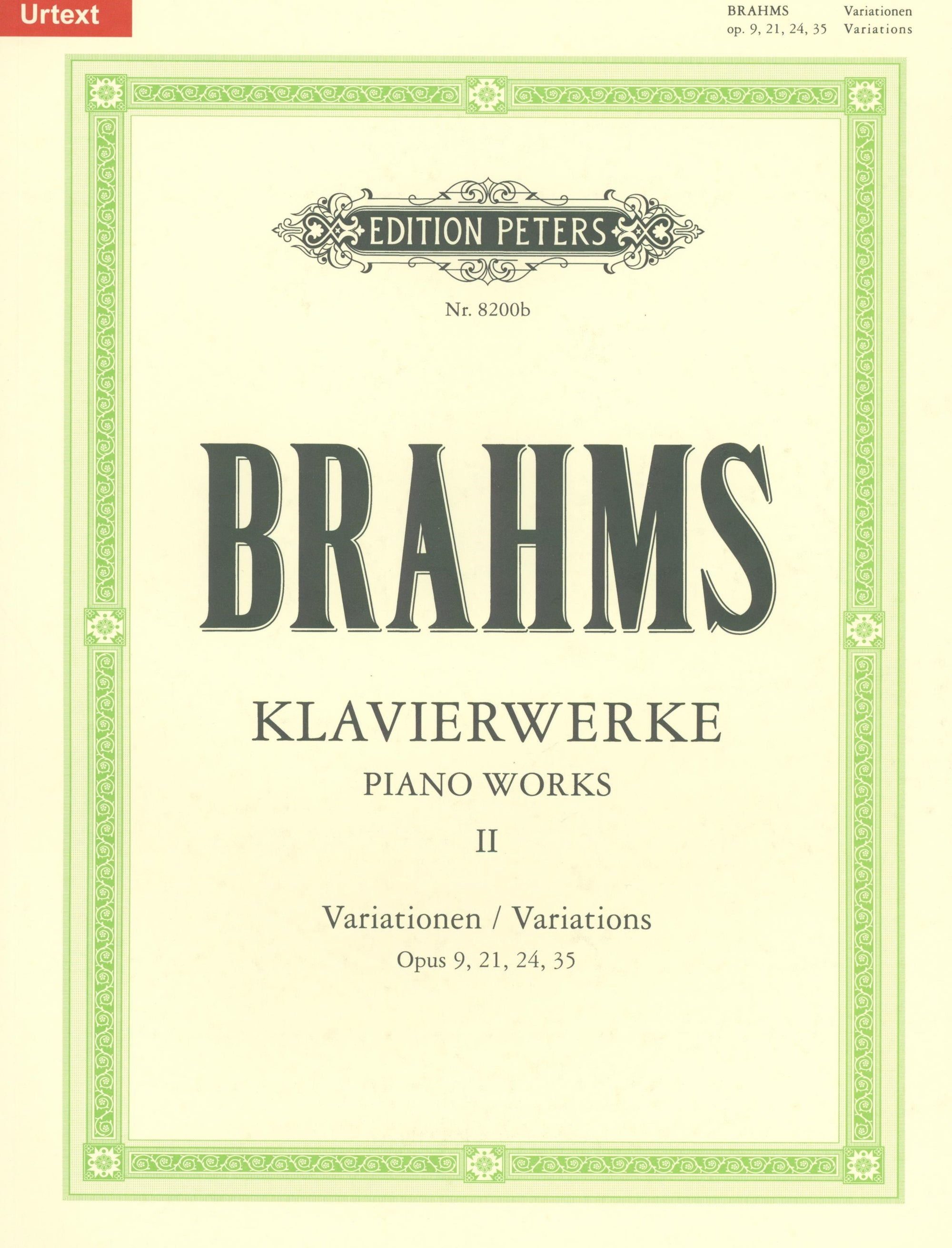 Brahms: Piano Works - Volume 2 (Variations)