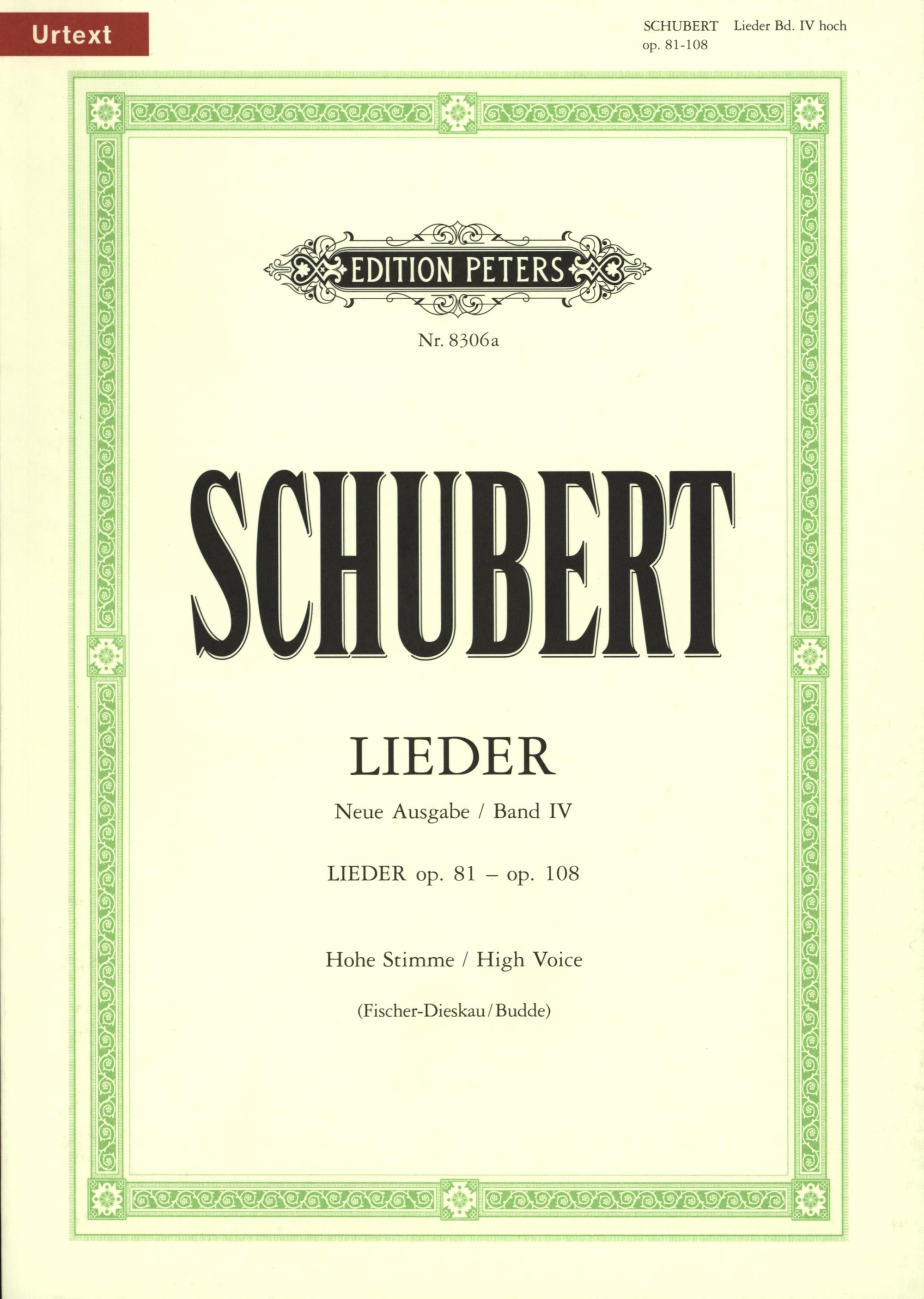 Schubert: Songs - Volume 4