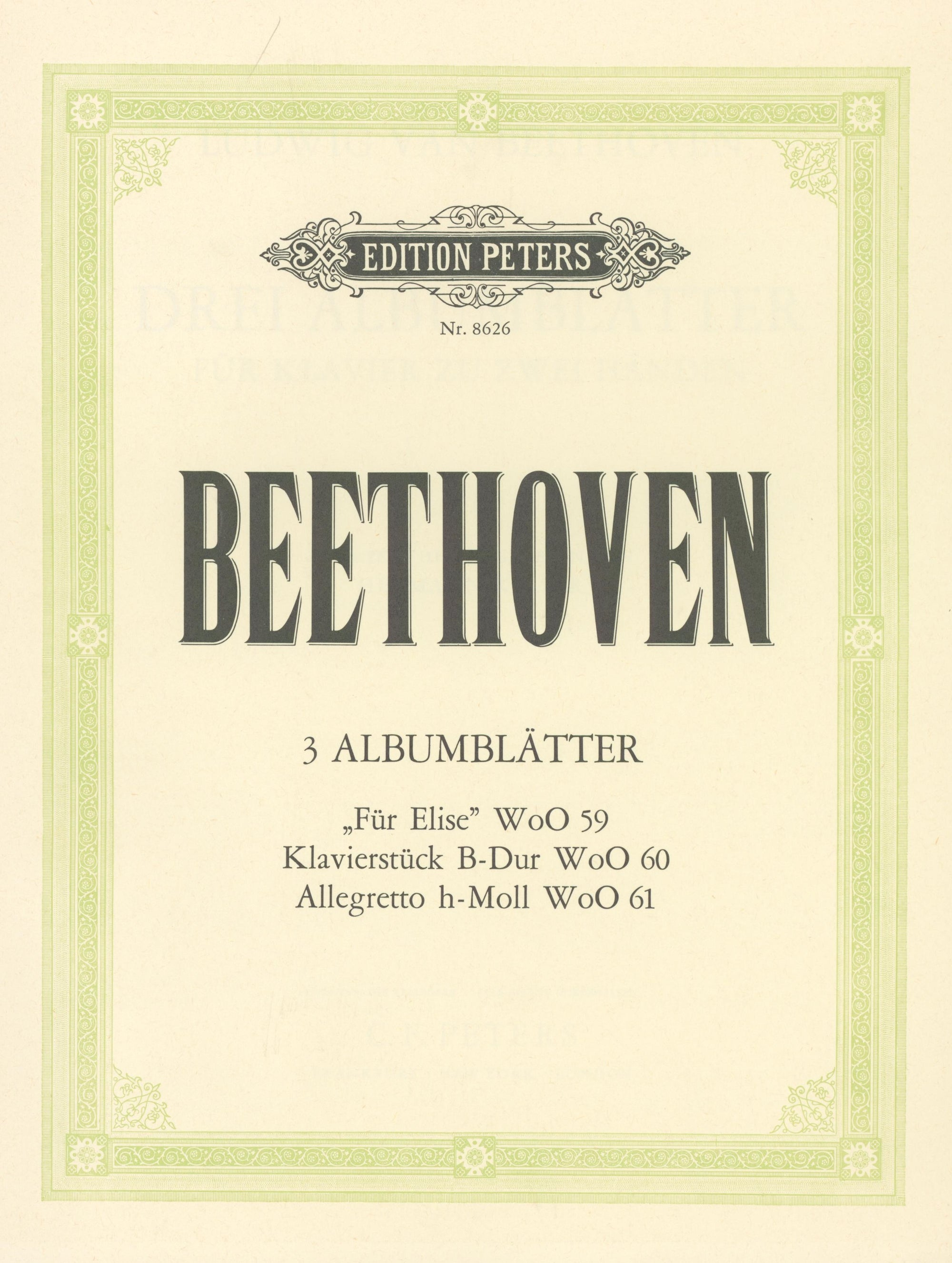 Beethoven: 3 Album Leaves