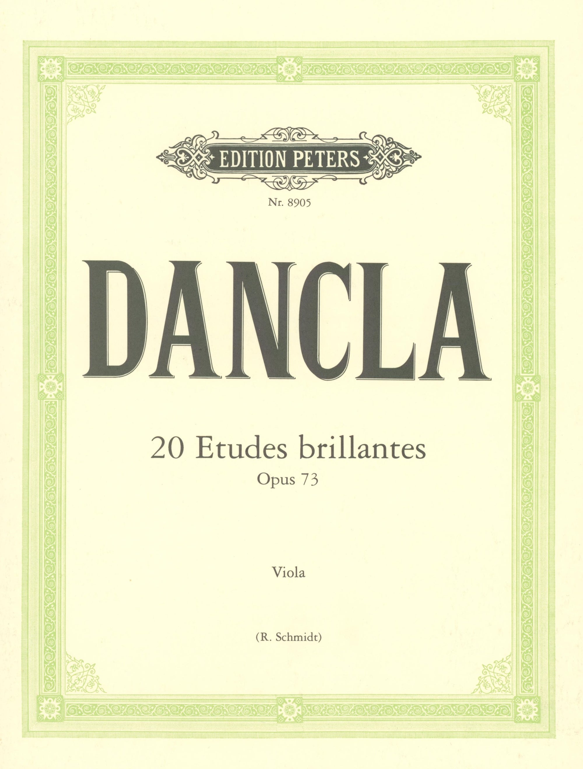 Dancla: 20 Etudes brillantes, Op. 73 (arr. for viola)