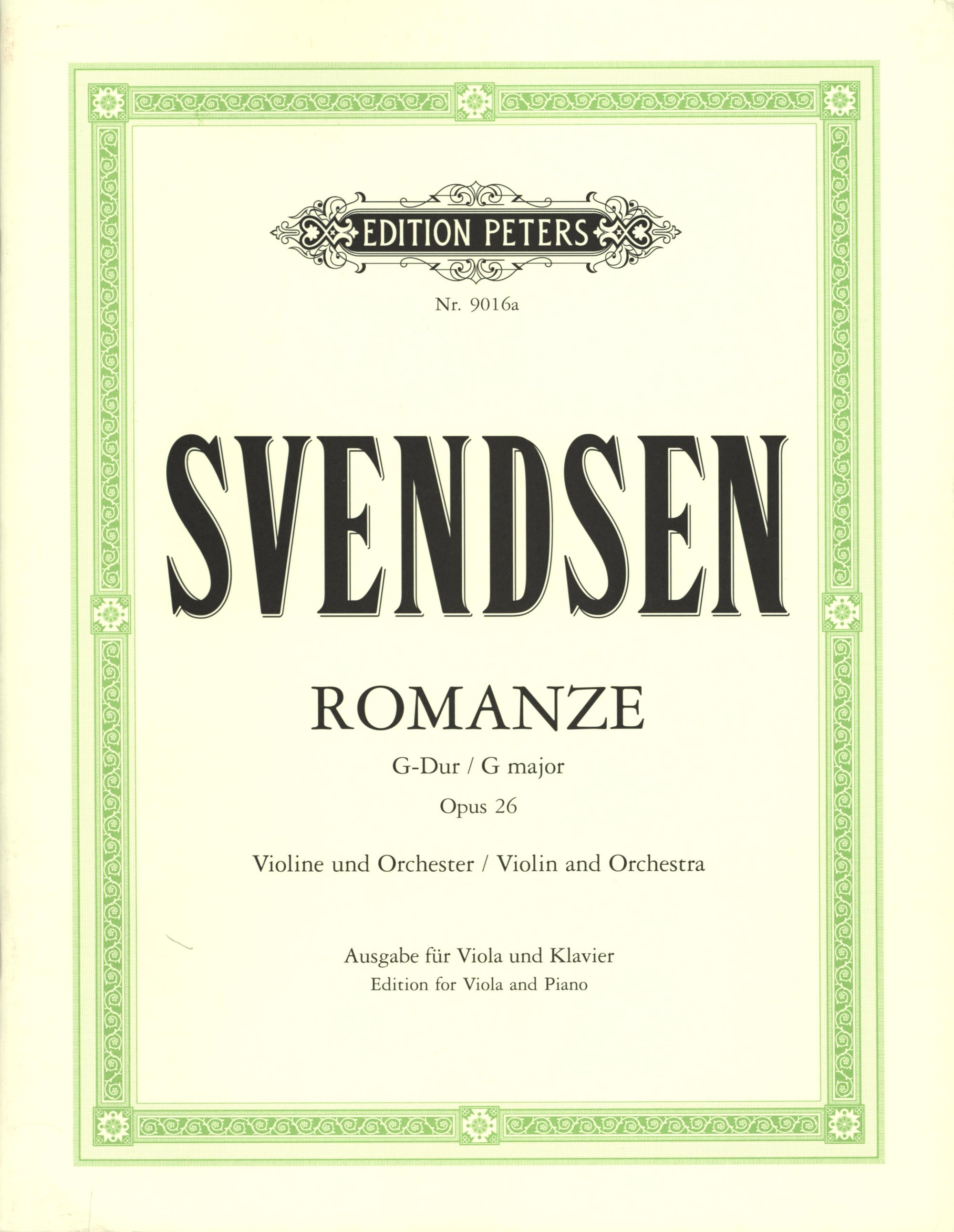 Svendsen: Romance in G Major, Op. 26 (arr. for viola)