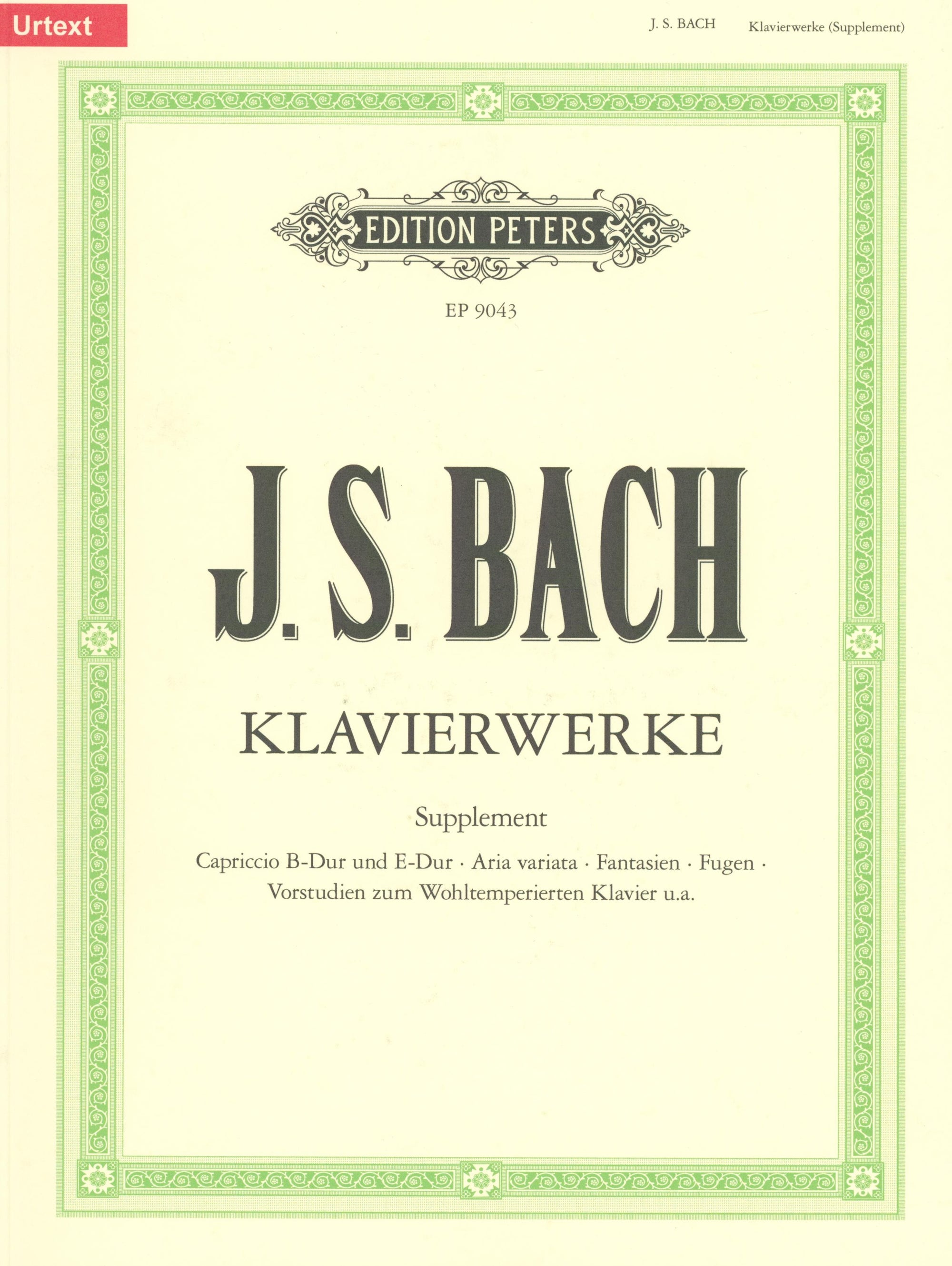 Bach: Keyboard Works - Supplementary Volume