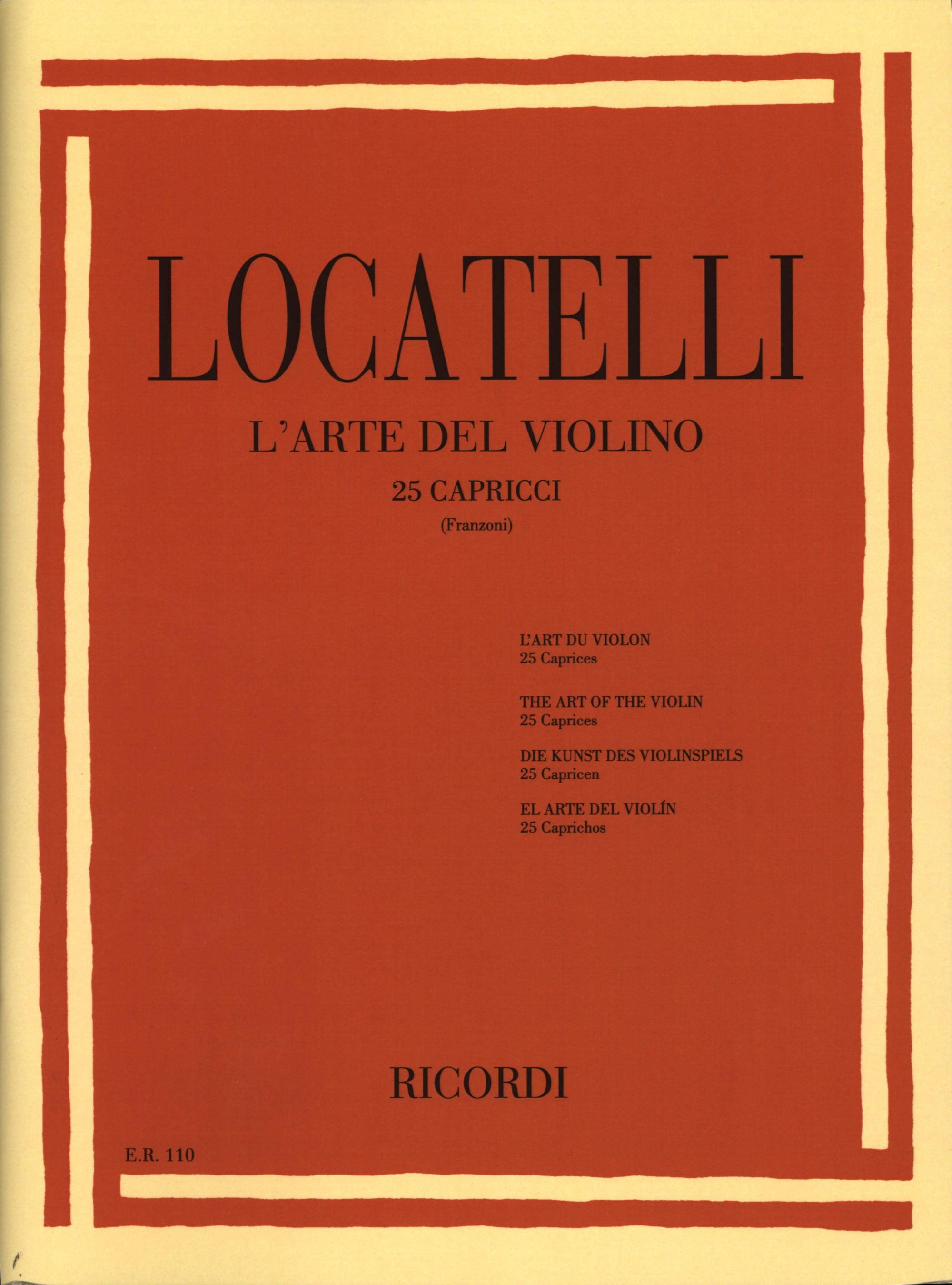 Locatelli: The Art of the Violin - 25 Caprices