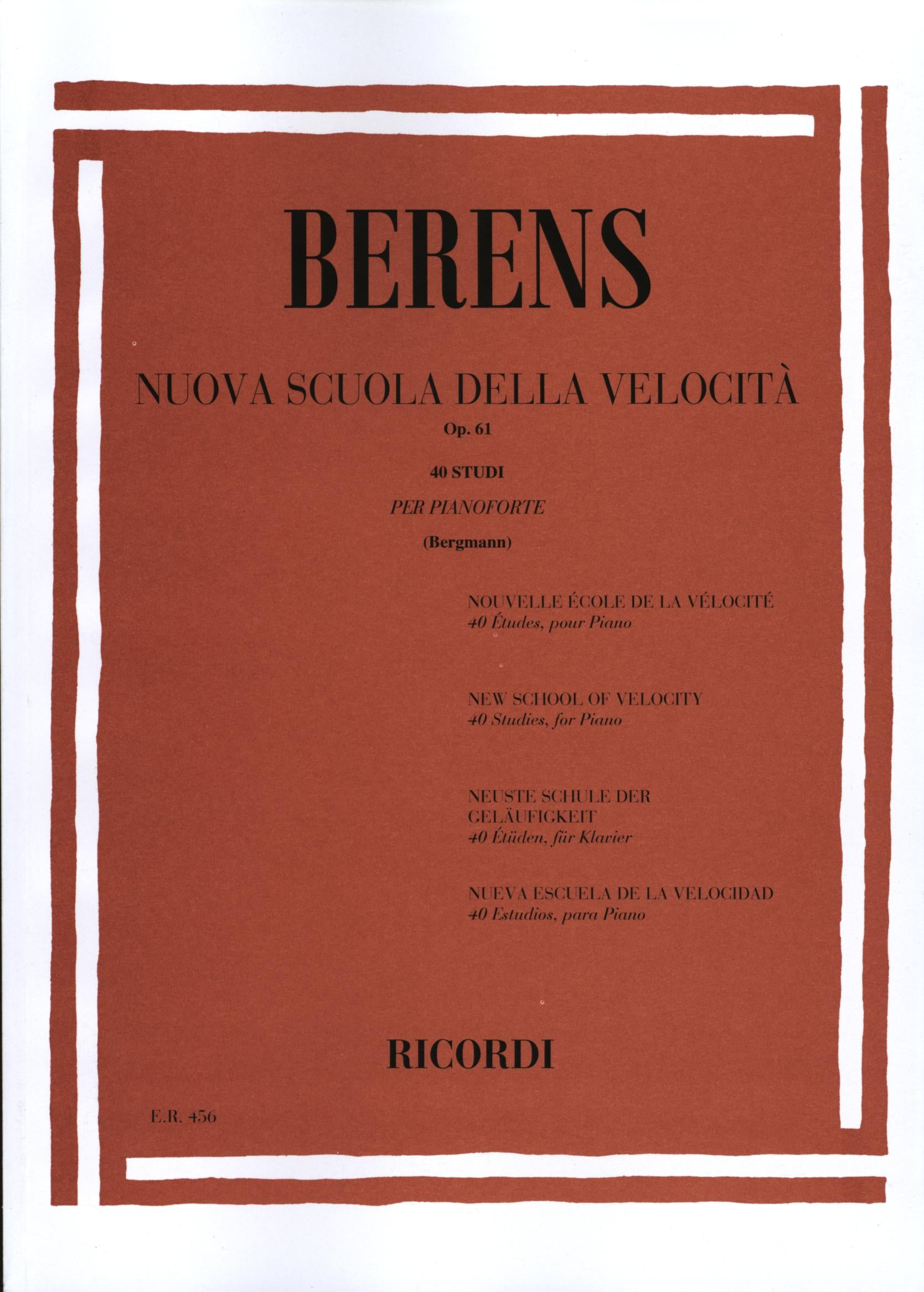 Berens: New School of Velocity, Op. 61