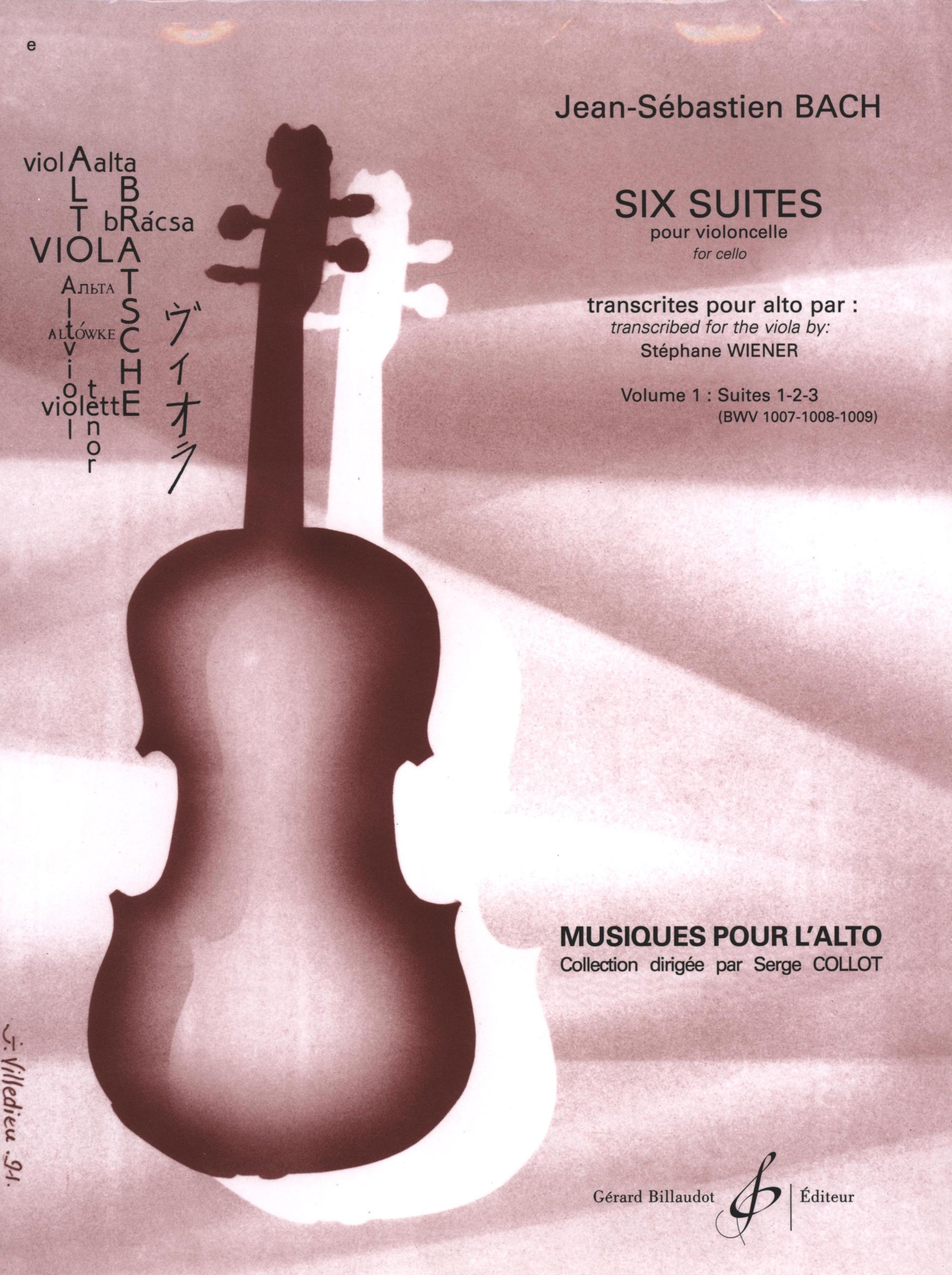 Bach: 6 Cello Suites Transcribed for Viola - Volume 1 (Nos. 1-3)