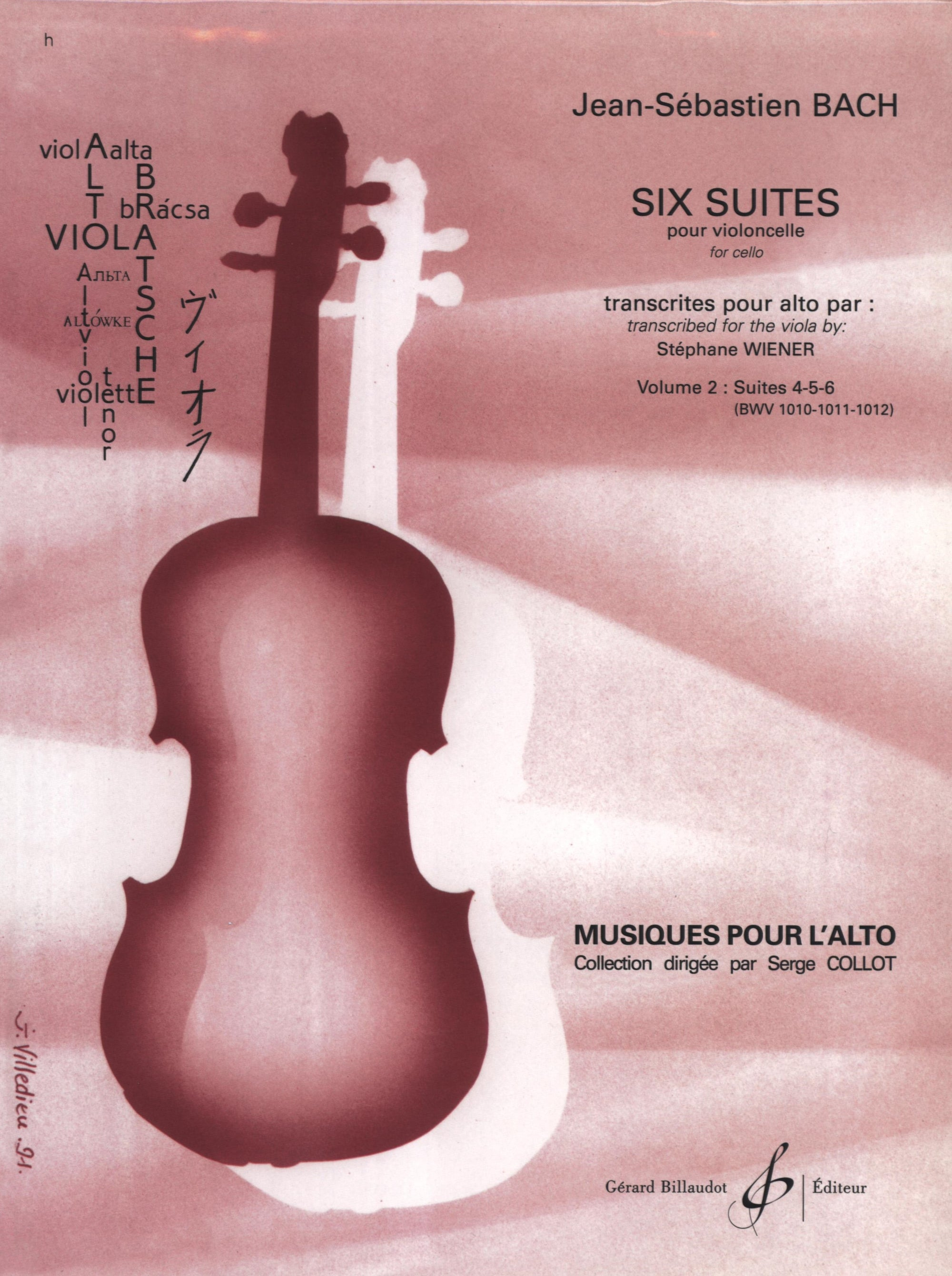 Bach: 6 Cello Suites Transcribed for Viola - Volume 2 (Nos. 4-6)