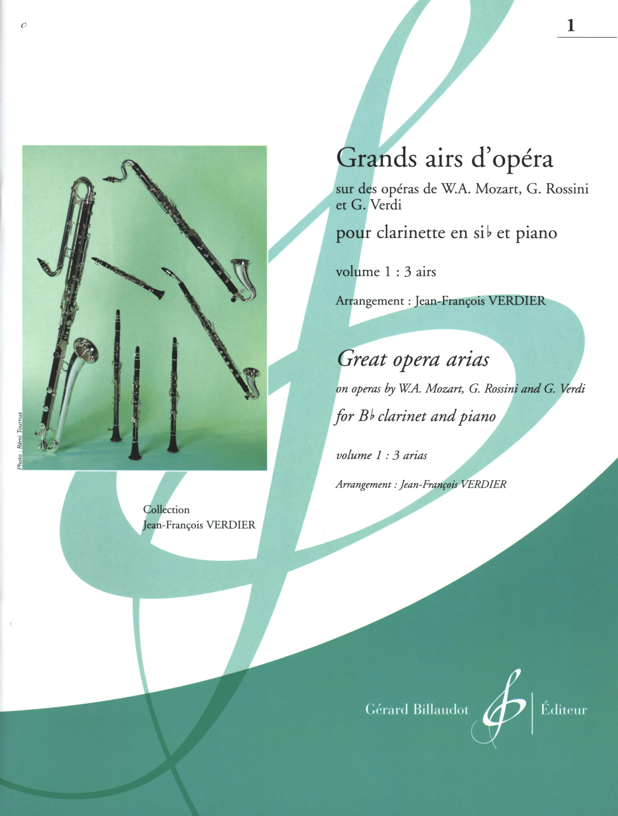 Great Opera Arias for Clarinet - Volume 1